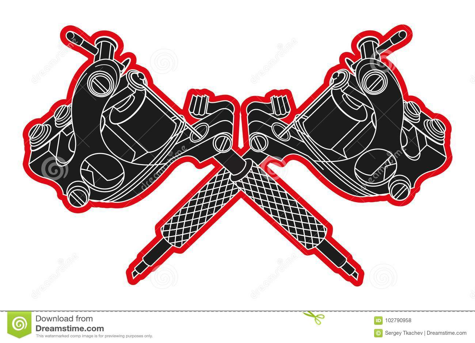 Tattoo machines stock vector. Illustration of element - 102790958