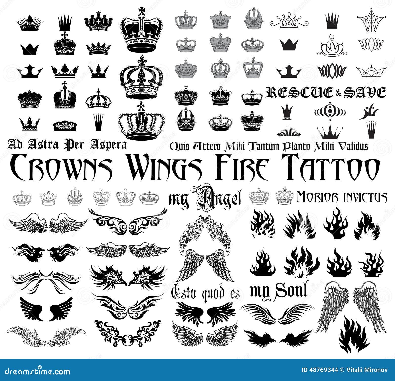 Tattoo Set Stock Vector Illustration Of Freedom Gothic