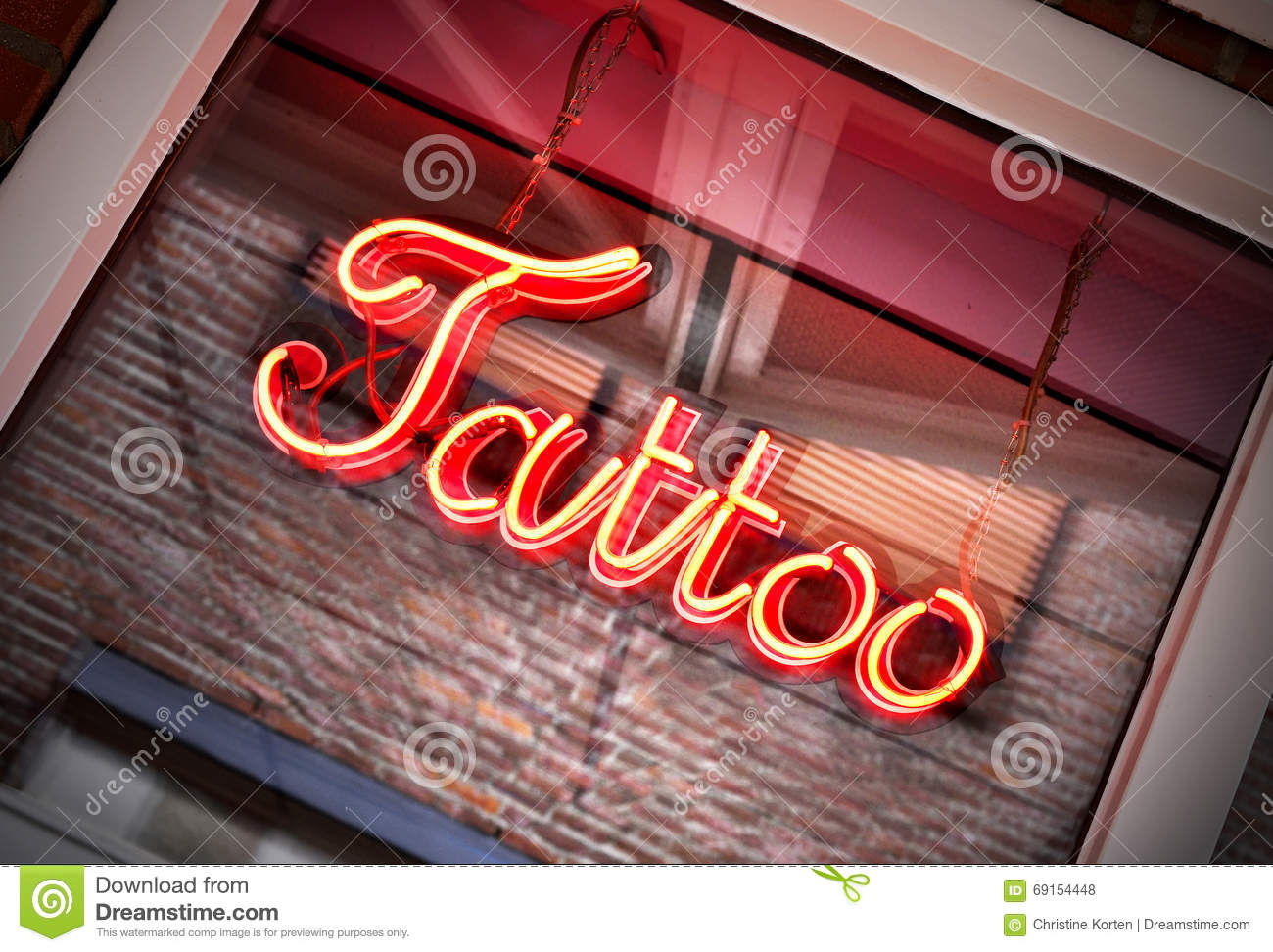 Tattoo neon sign stock photo 2678070 for Neon tattoo signs