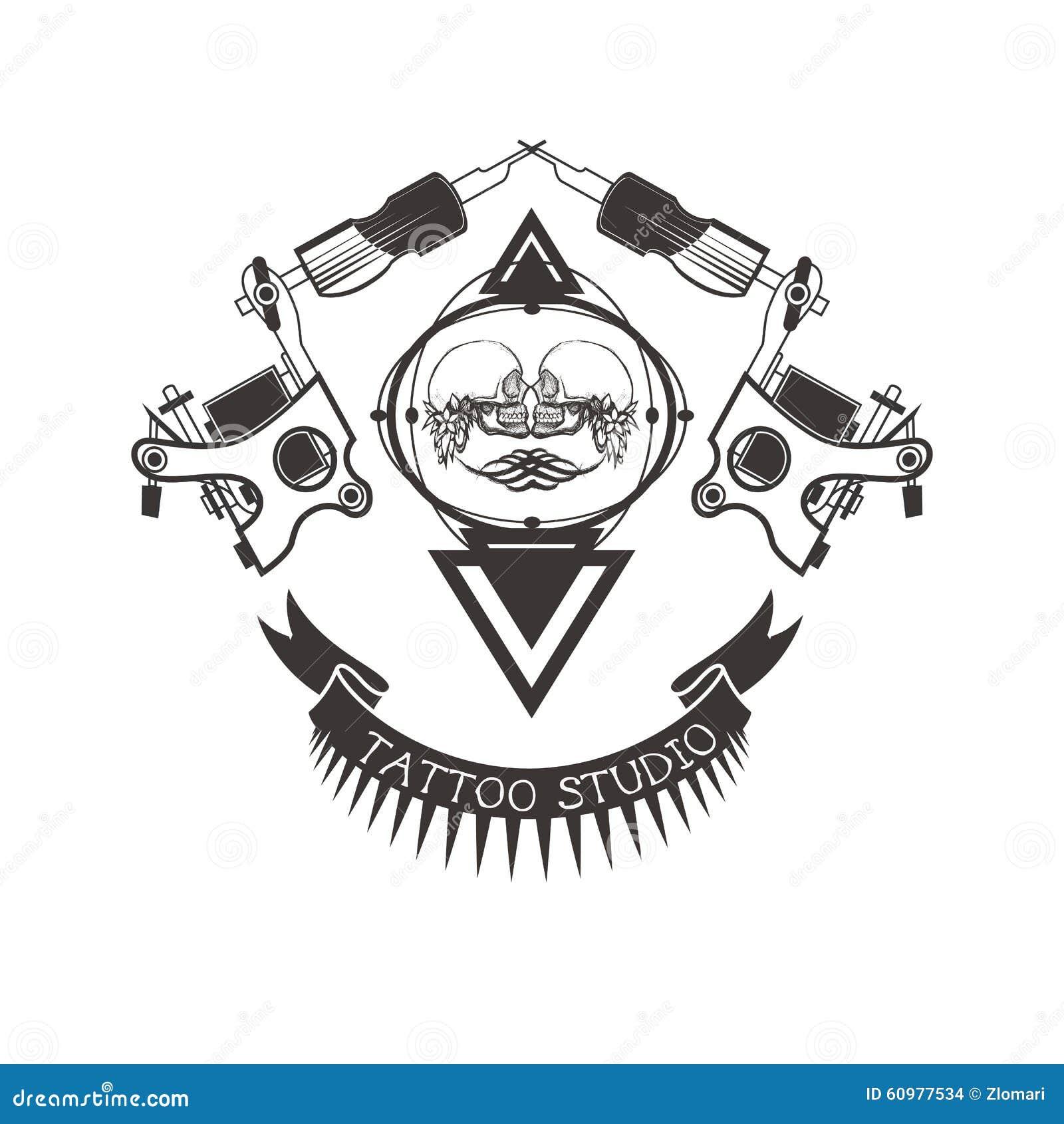 Tattoo Studio Logo, Emblem Stock Vector - Image: 60977534