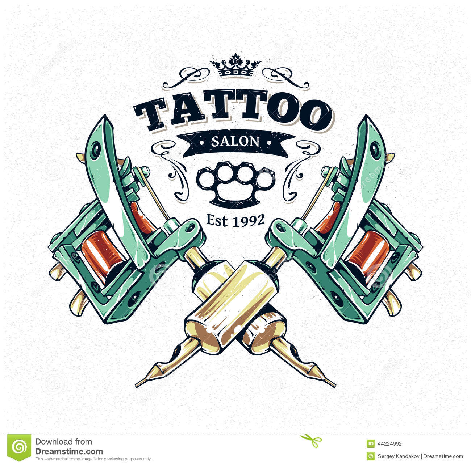 tattoo studio poster stock vector image 44224992. Black Bedroom Furniture Sets. Home Design Ideas
