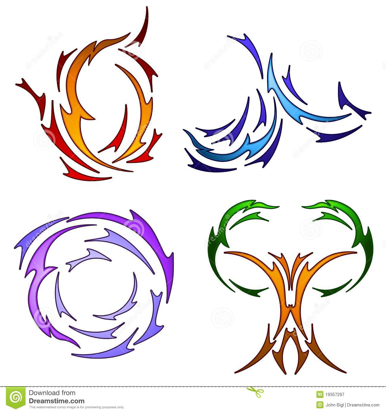 More similar stock images of ` Tattoo style element symbols `