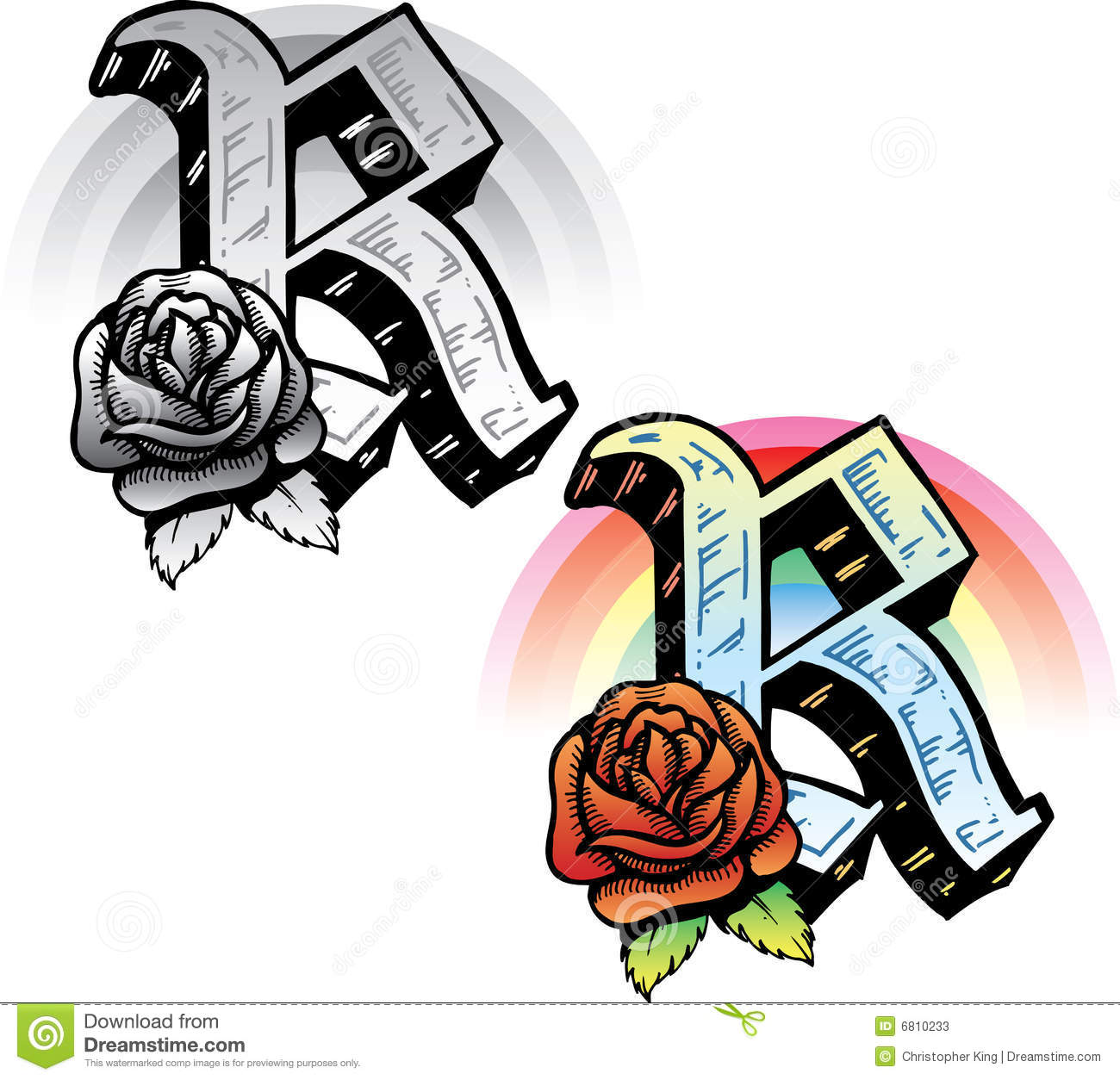 tattoo style letter r stock vector image of metal hand 6810233. Black Bedroom Furniture Sets. Home Design Ideas