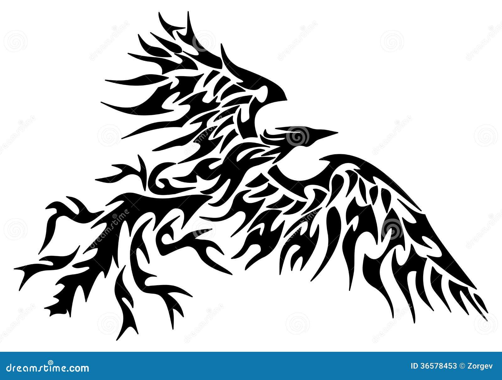 Tattoo Tribal Phoenix Stock Illustration Illustration Of Beak