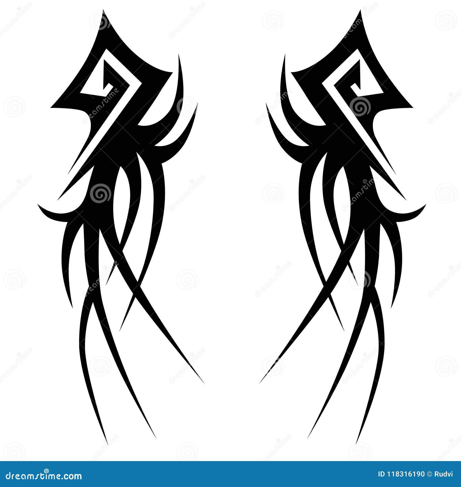 Tattoo Tribal Vector Design Sketch Stock Vector Illustration Of