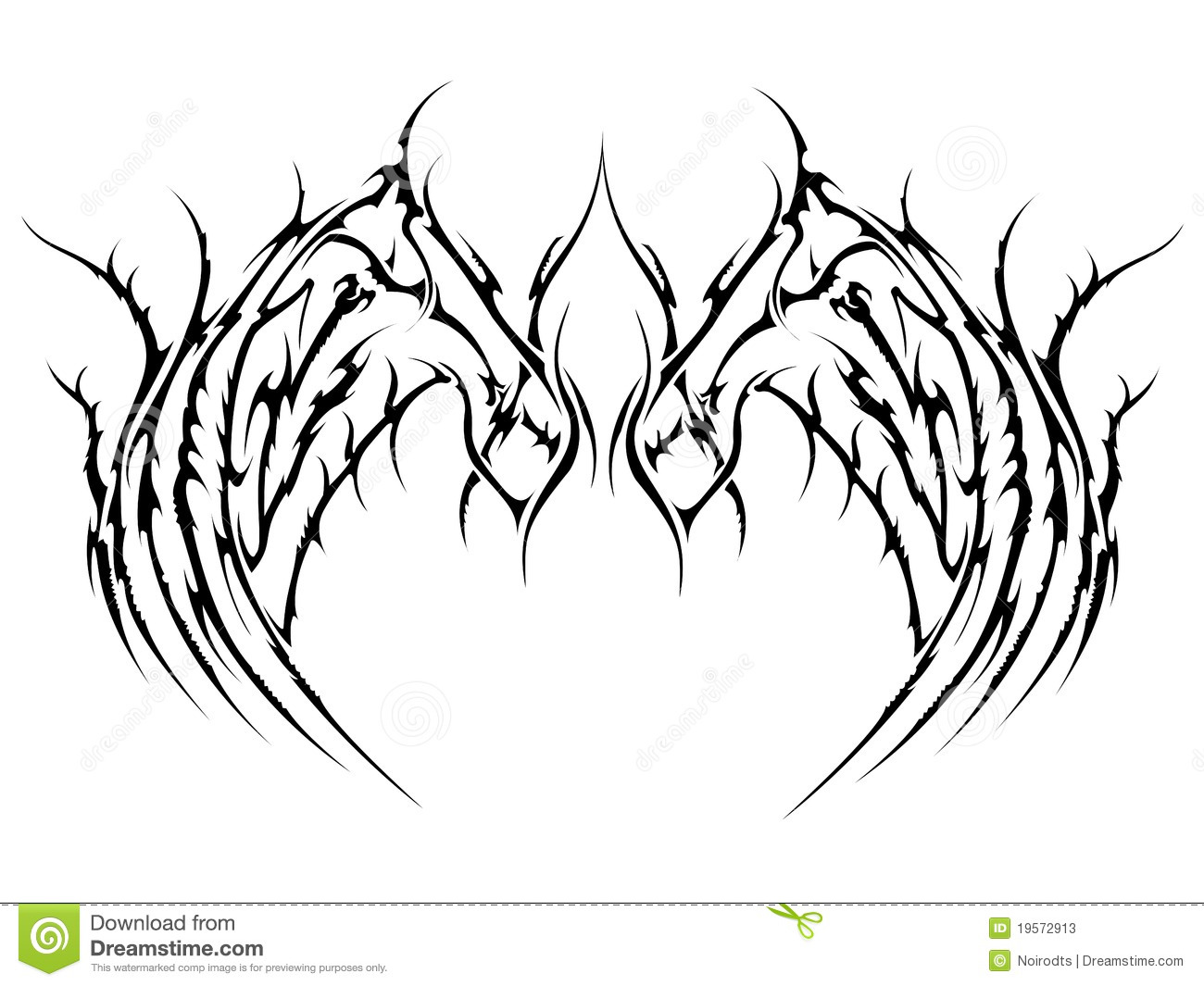 tattoo wings stock photos