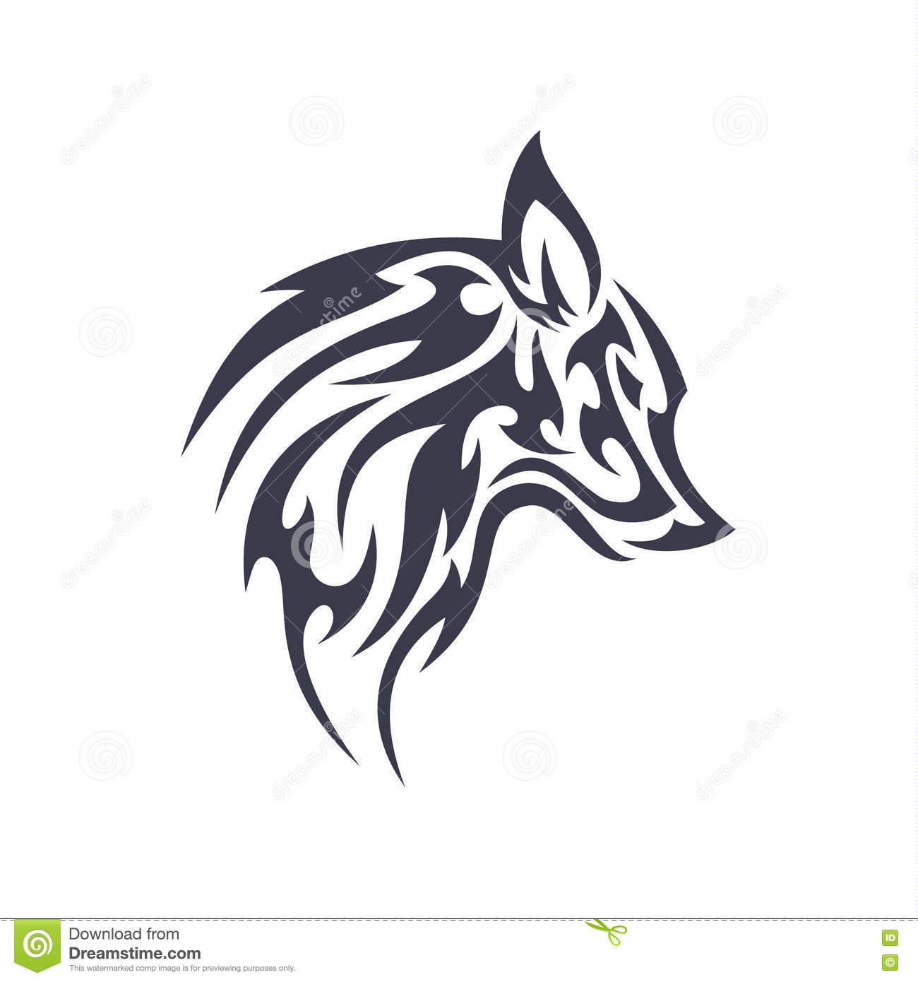 Tattoo wolf animal vector logo for unique modern business sign ...