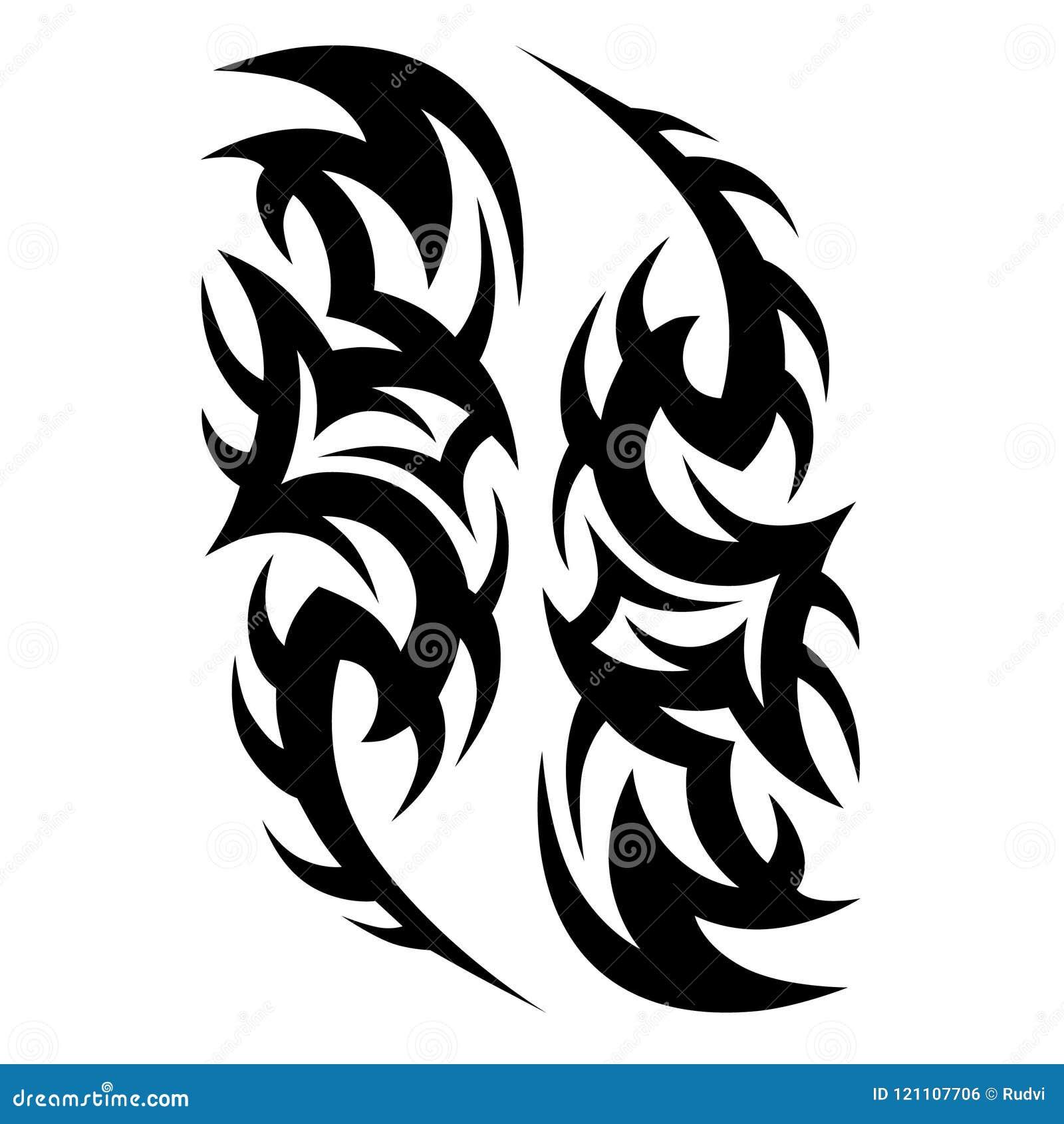 d90ce0d3b Tattoos ideas sleeve designs – tribal tattoo pattern vector illustration.  More similar stock illustrations