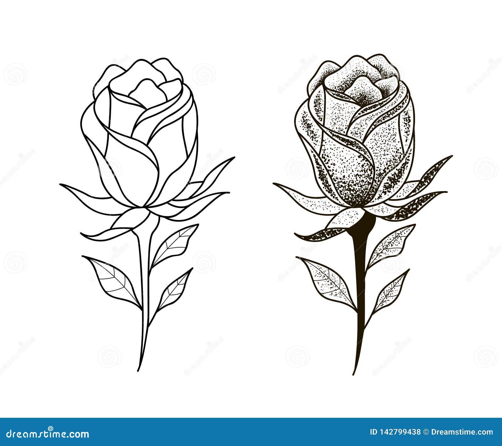 Tatuaż kropki kwiat ustawiająca praca
