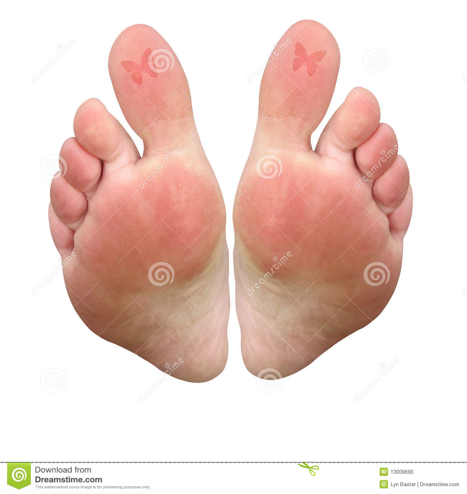Tatuaży motyli palec u nogi