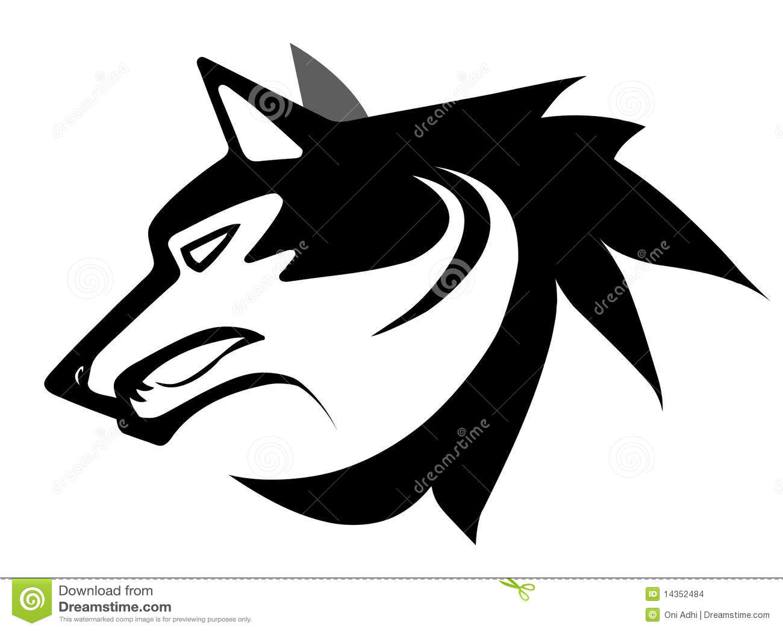 Tatuagem da face do lobo imagens de stock imagem 14352484 for Immagini vector