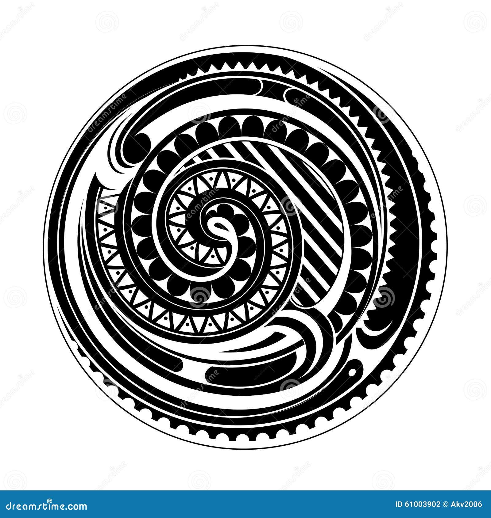 Maori Tattoo Design Wallpaper Wp300369: Tatuagem Maori Do Círculo Ilustração Do Vetor. Ilustração
