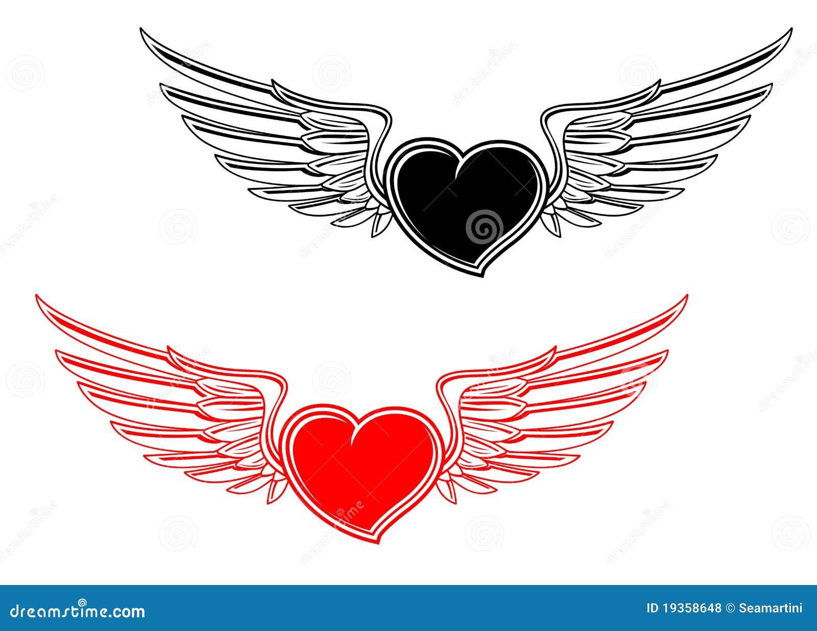 Tatuagem retro do coração