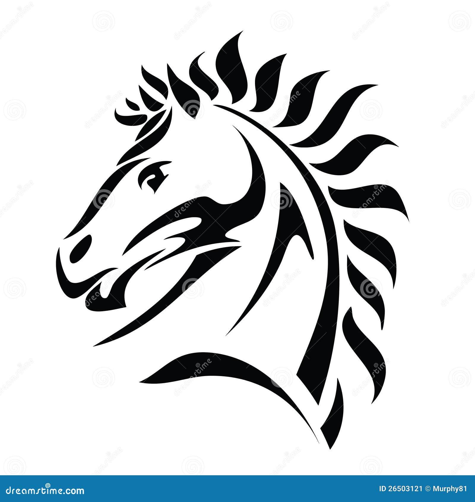 Tatuagem tribal da cabeça de cavalo