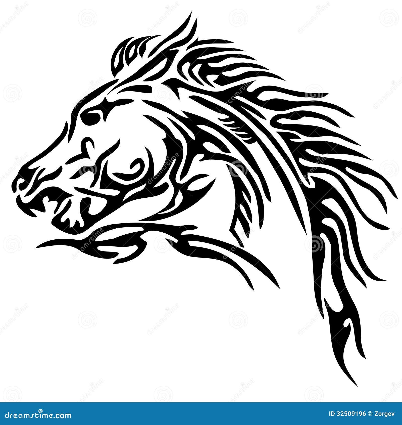 tatuagem tribal do cavalo foto de stock imagem de tribal