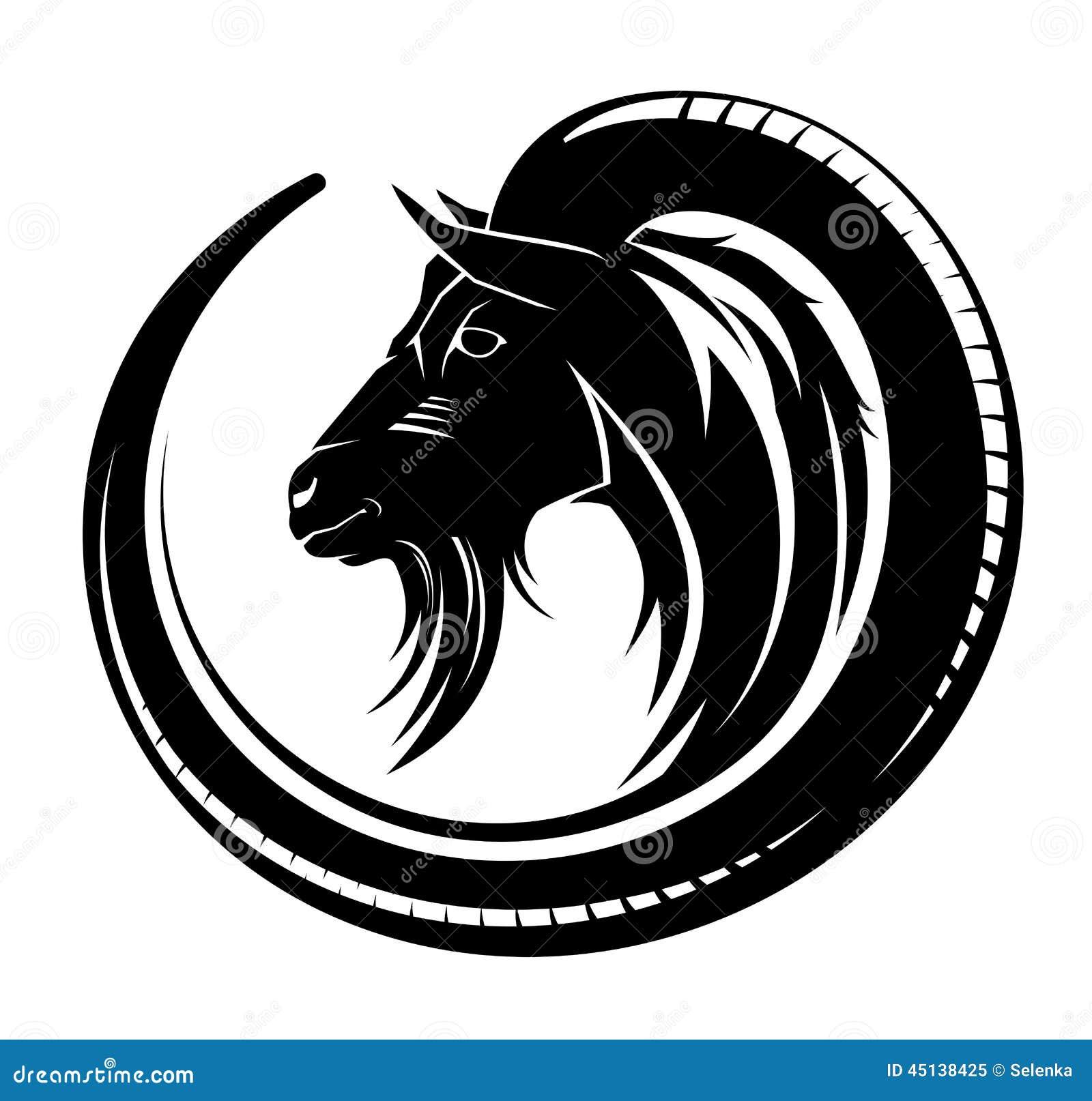 Tatuaggio tribale della capra