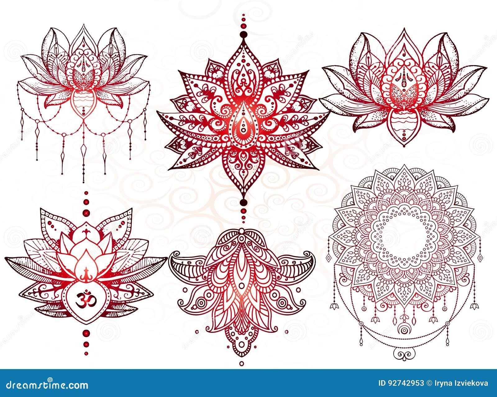 Tatuaje de la mandala de Seth, Lotus