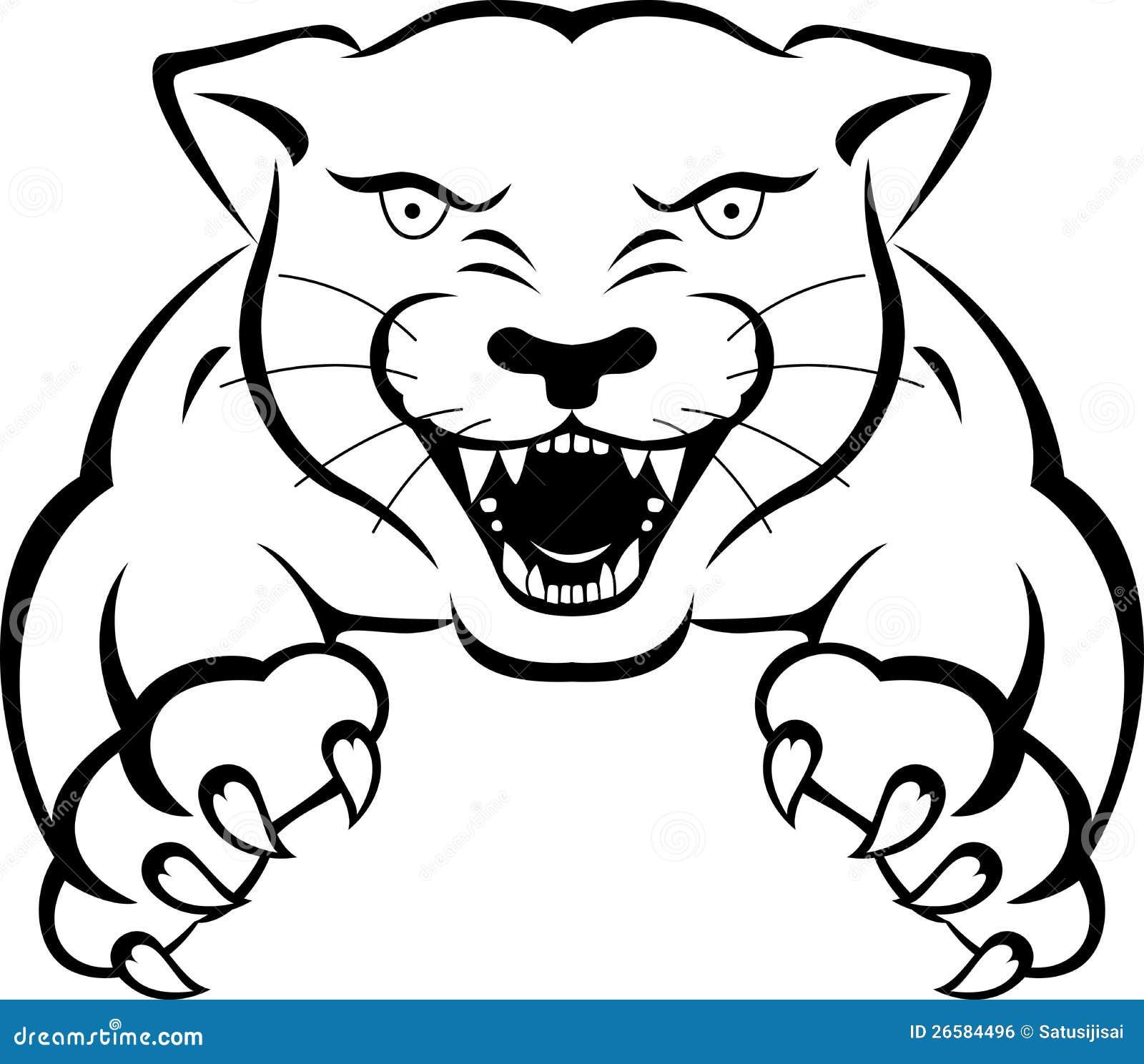 Tatuaje de la pantera stock de ilustración. Ilustración de ...