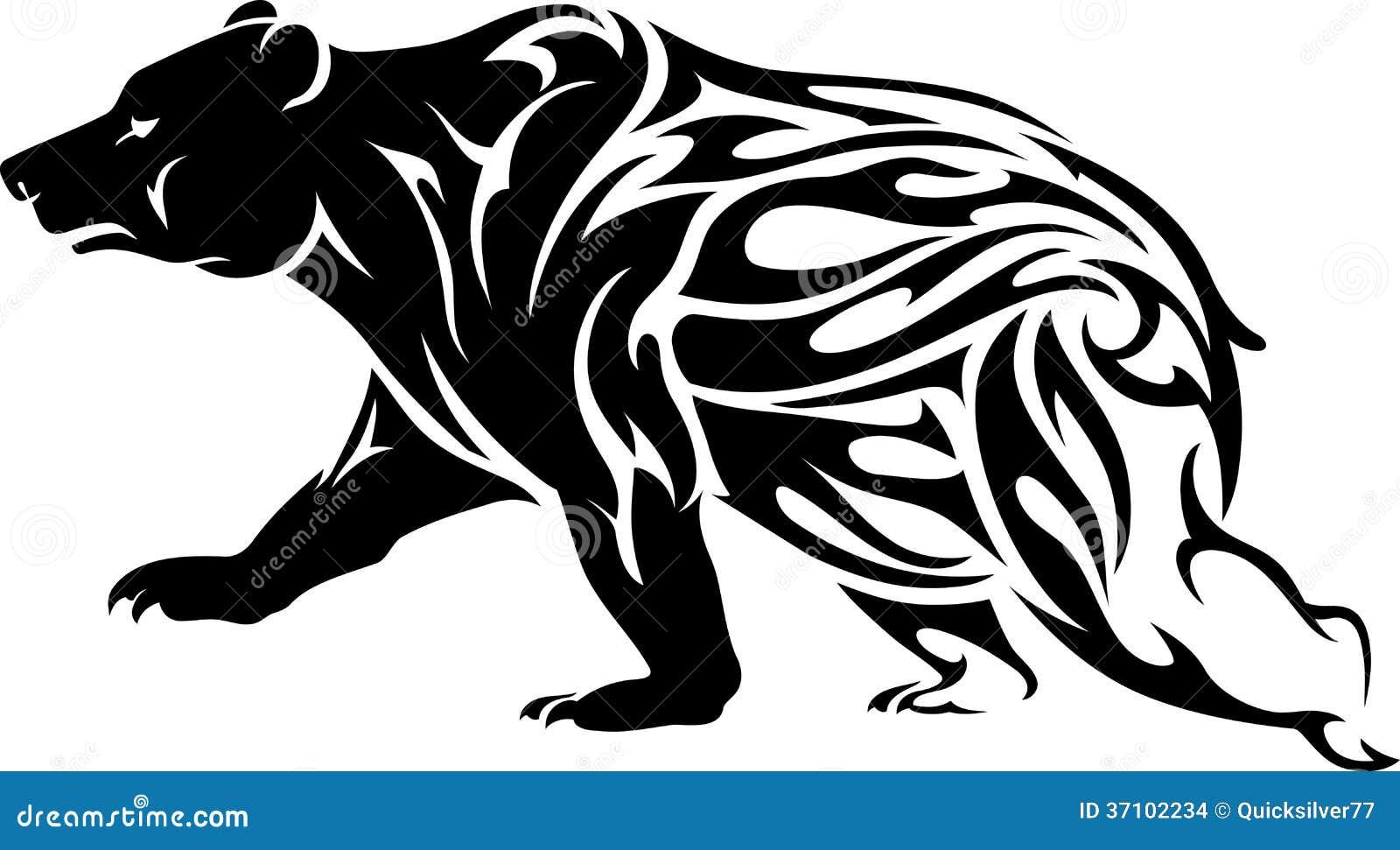 Tatuaje Del Oso Grizzly Stock De Ilustración Ilustración De Tribal