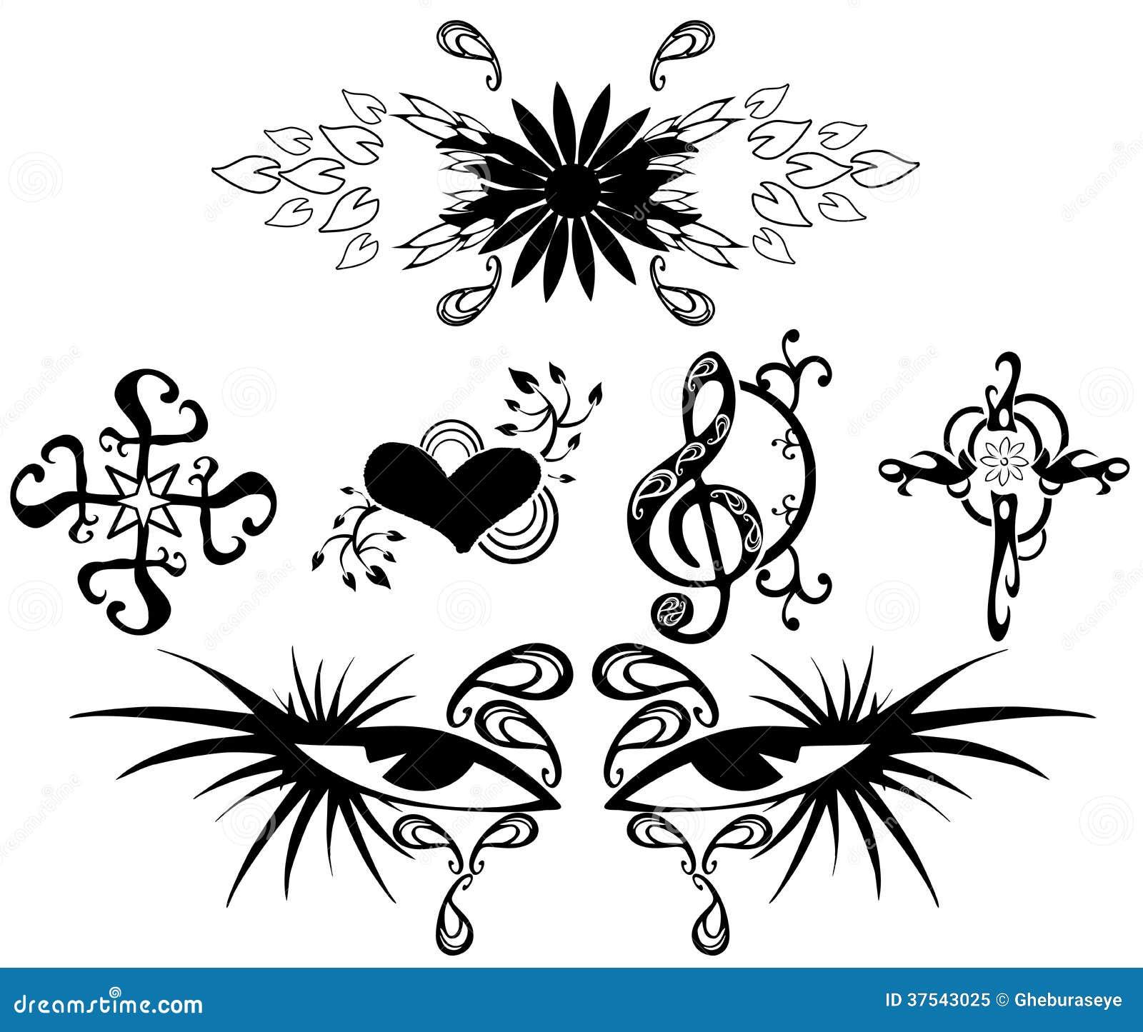 Tatuajes Ilustración Del Vector Ilustración De Corazón 37543025