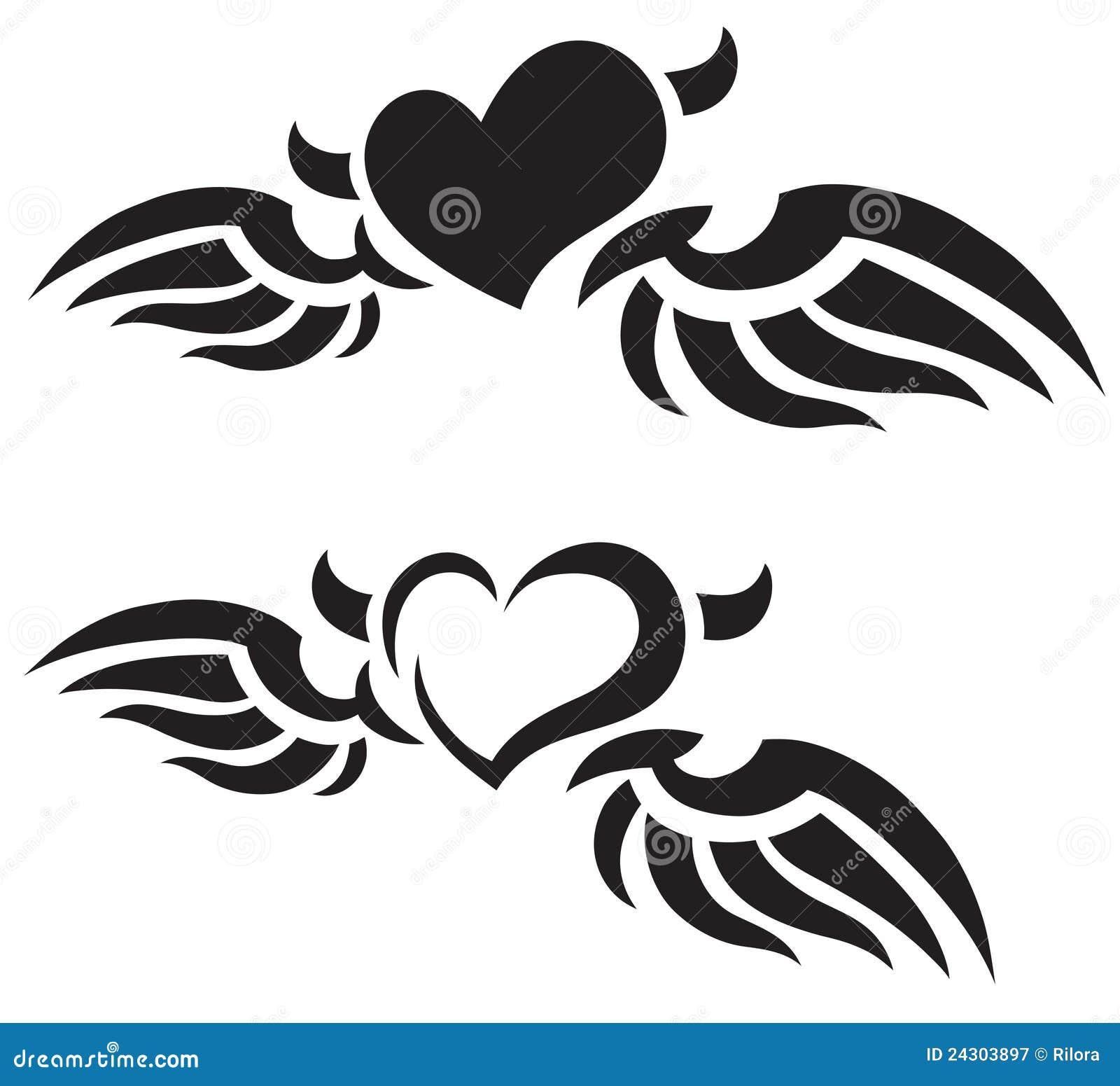 Tatuajes Del Corazón Stock De Ilustración Ilustración De Amantes