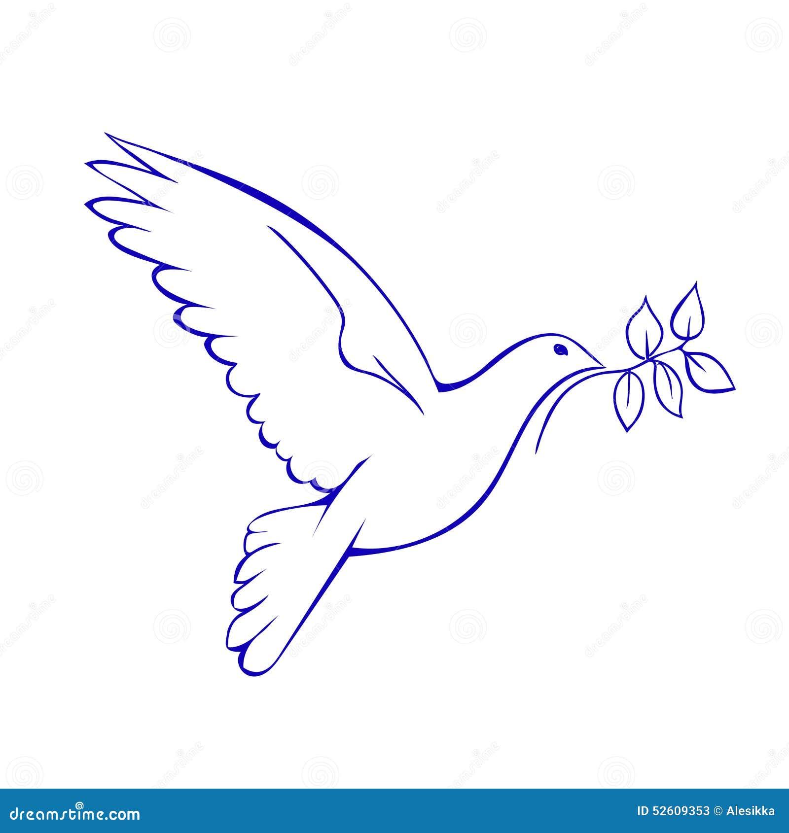 Taube mit Niederlassung Symbol des Friedens Auch im corel abgehobenen