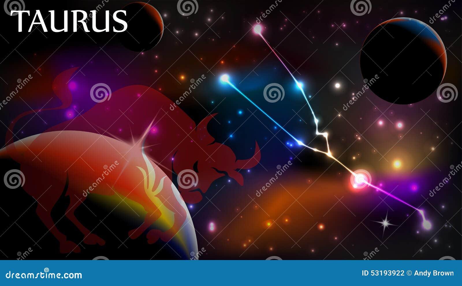 Taurus Astrological Sign- und Kopienraum