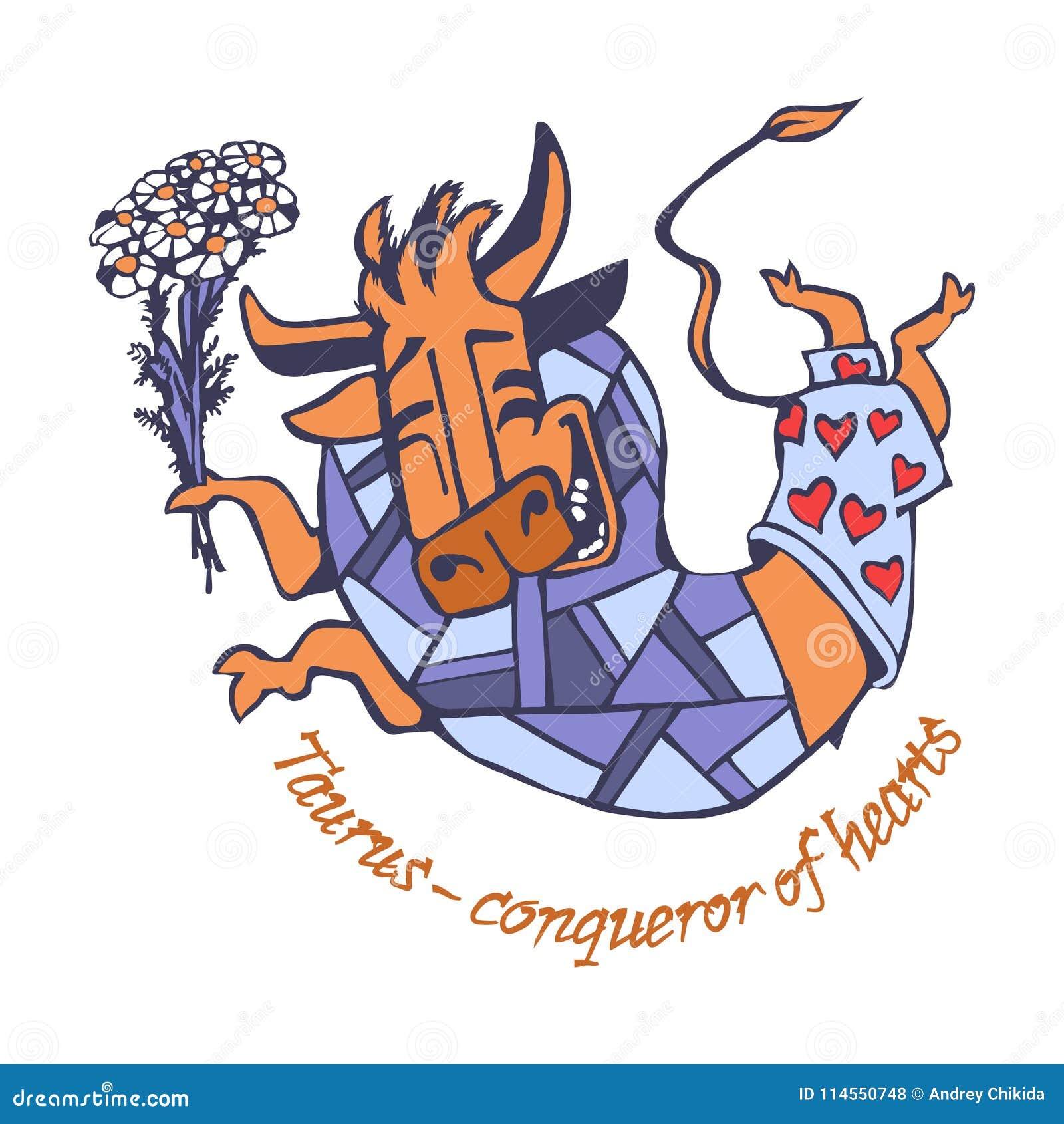 Taurus conquering hearts joyful smiling happy made a leap with a taurus conquering hearts joyful smiling happy made a leap with a bouquet of flowers of chamomiles izmirmasajfo