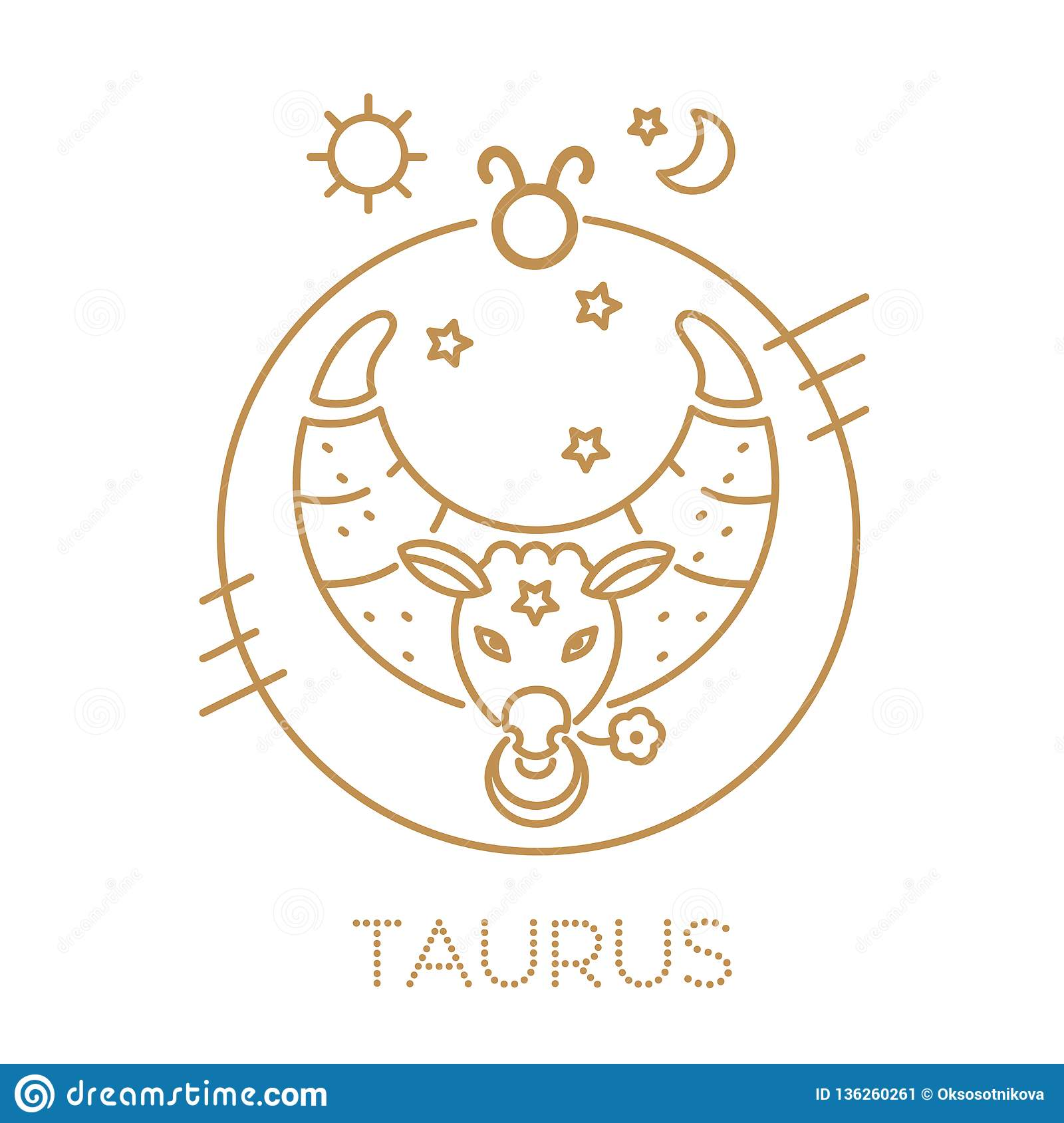 Taurus Zodiac Sign, Logo, Tattoo Or Illustration  Food Horoscope