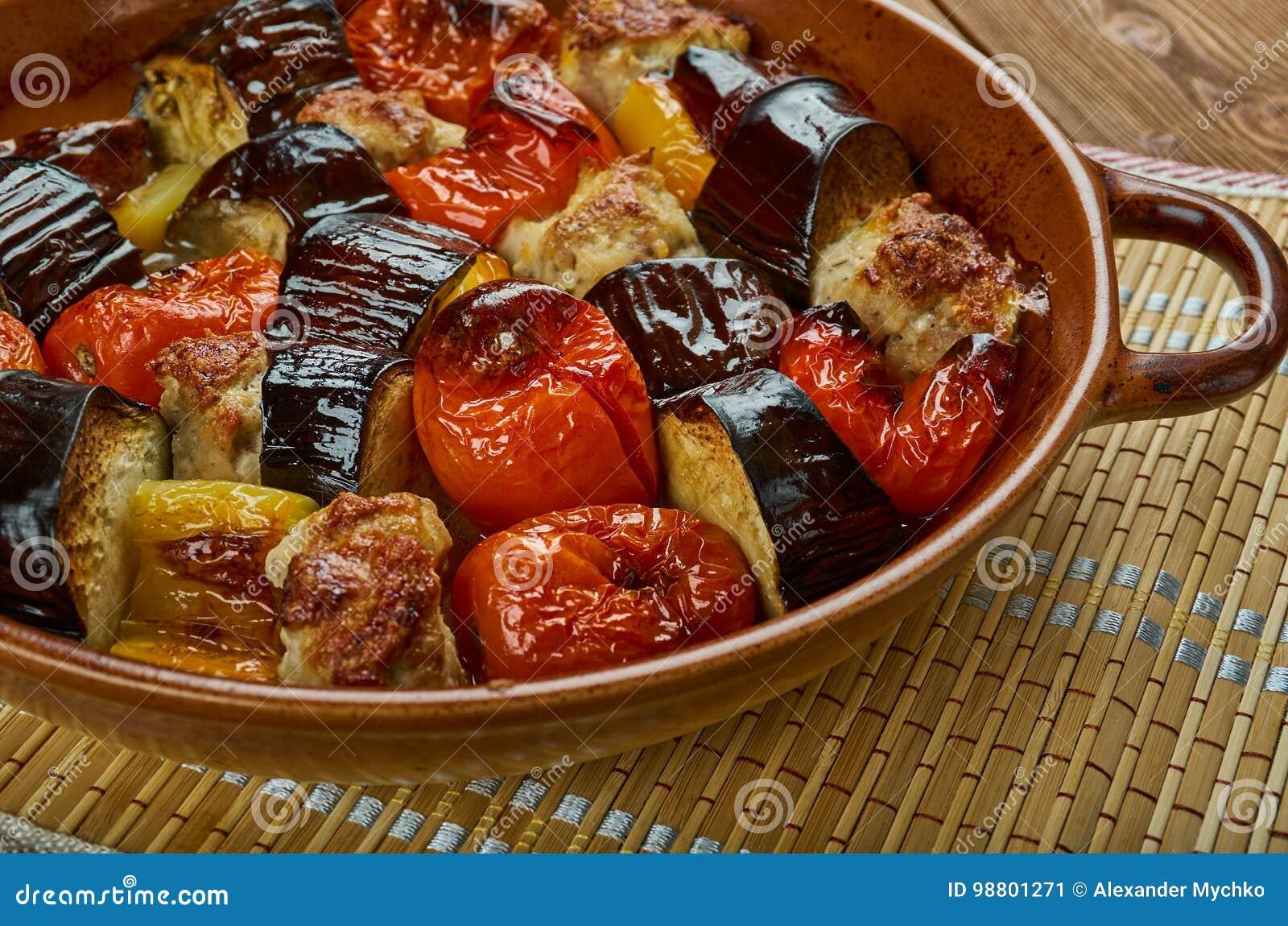 Azerbaijan tava-kebab stock image  Image of roast