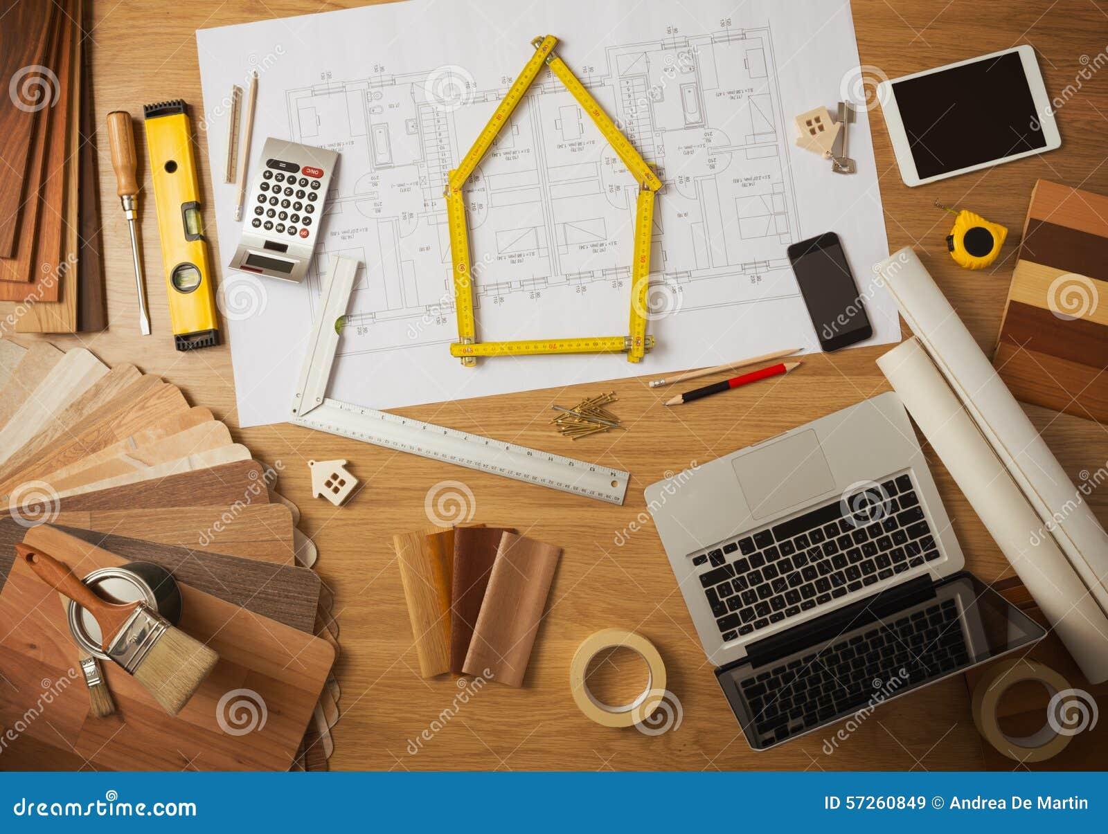 tavola di lavoro dell 39 architetto arredatore e dell