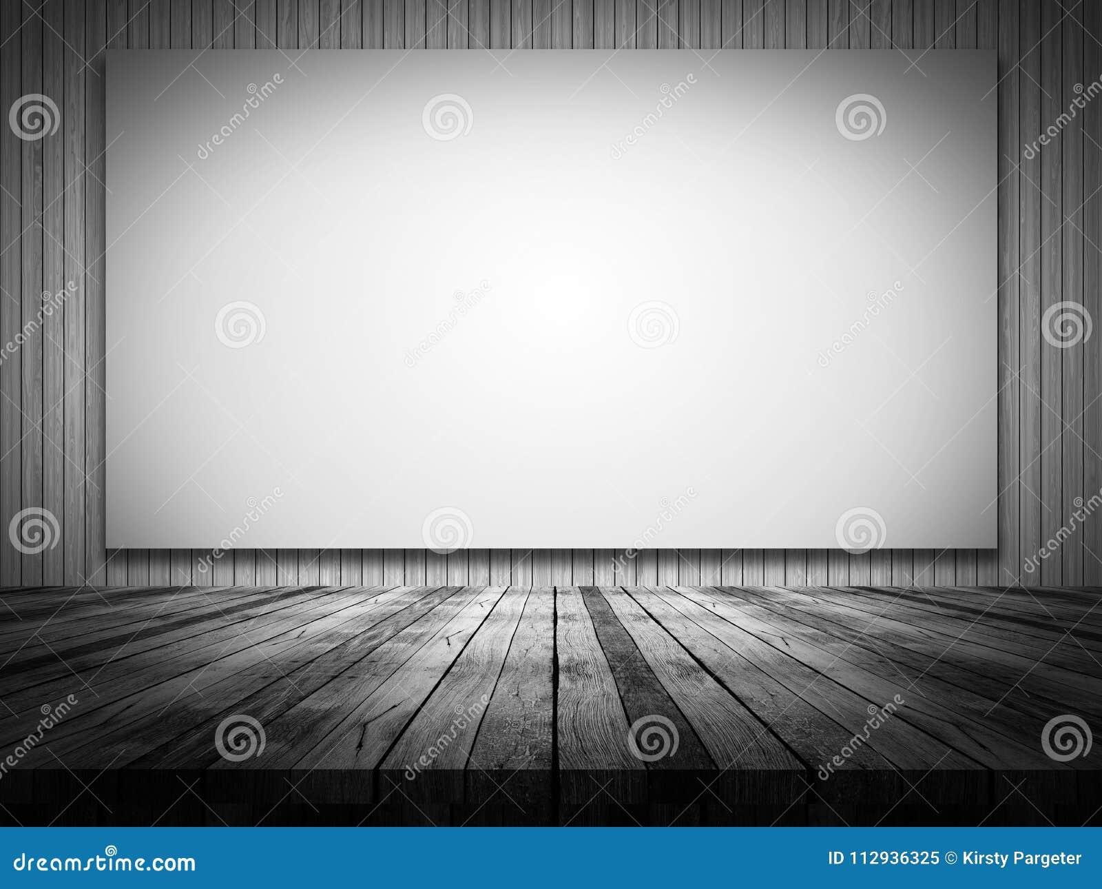 Pareti In Tela : Interno della stanza con tela sulla parete nera del cemento