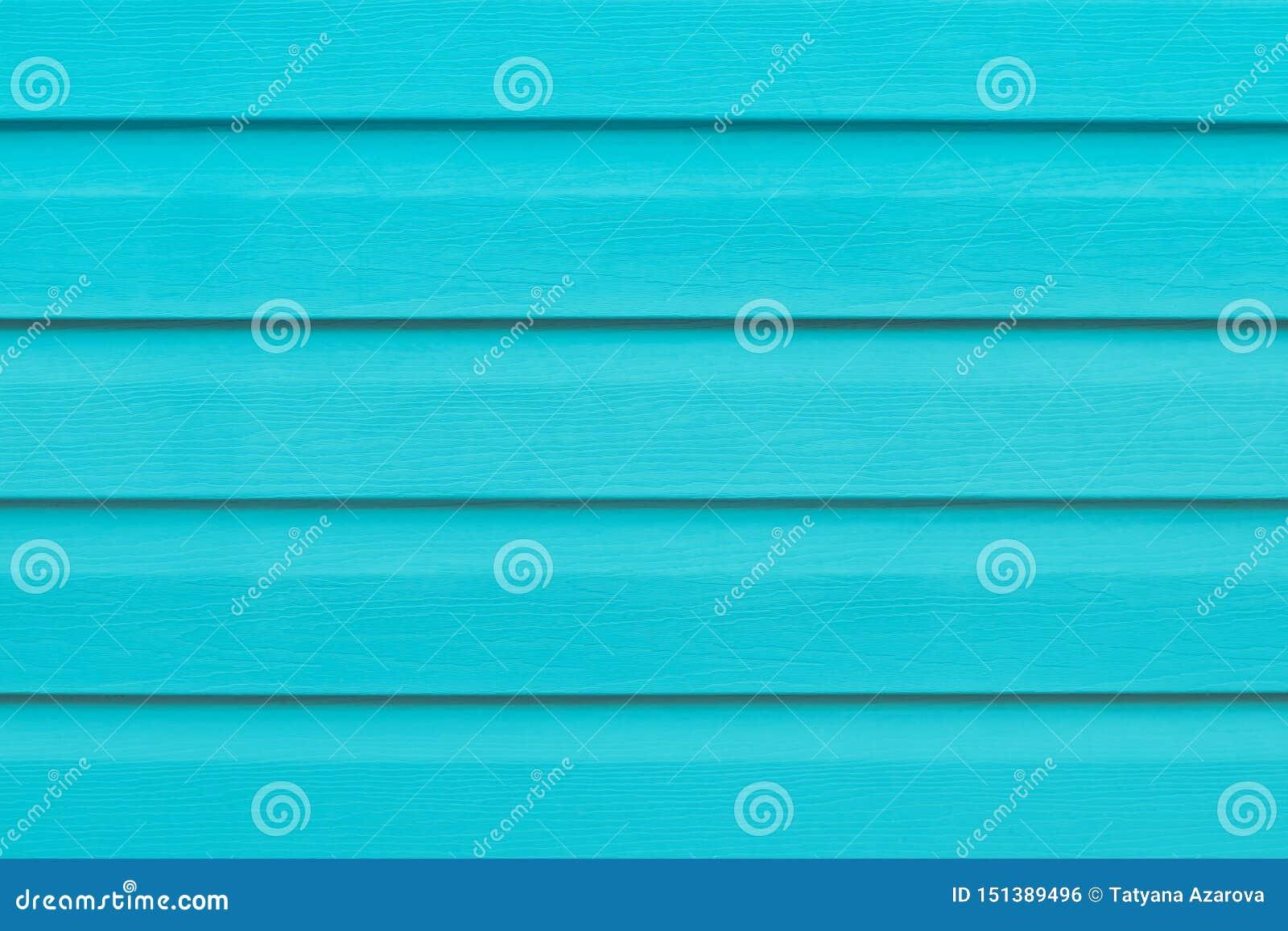 Tavola di legno del turchese nelle linee Priorit? bassa a strisce Struttura di legno verde delle stecche Plancia - legname Il blu