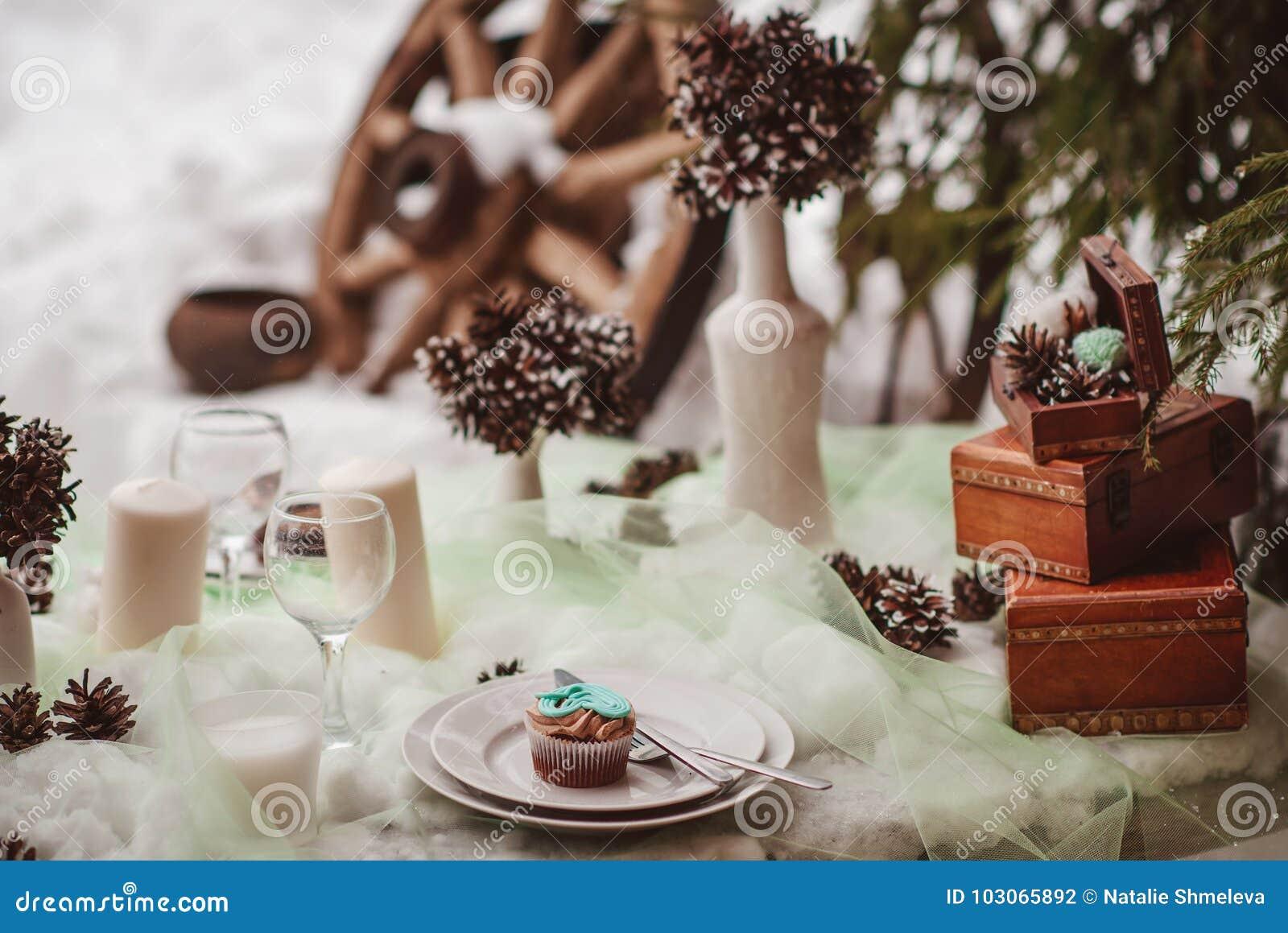 Tavola di nozze di inverno