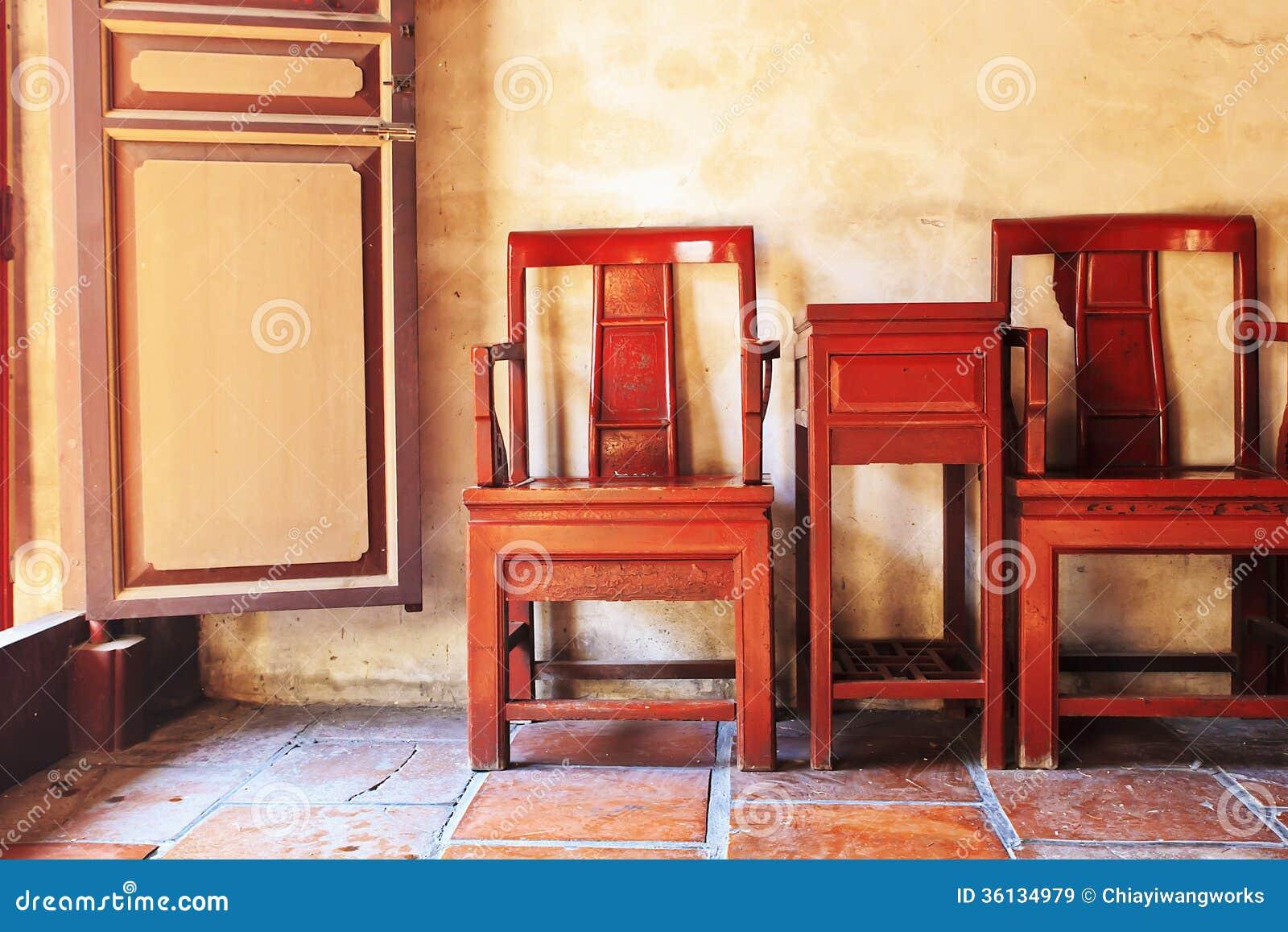 Tavola e sedie cinesi antiche immagine stock immagine di for Tavola e sedie