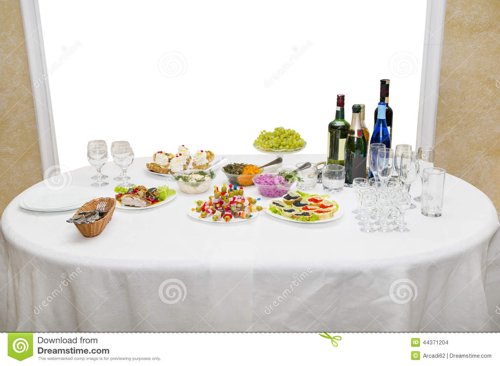 Tavola festiva per buffet