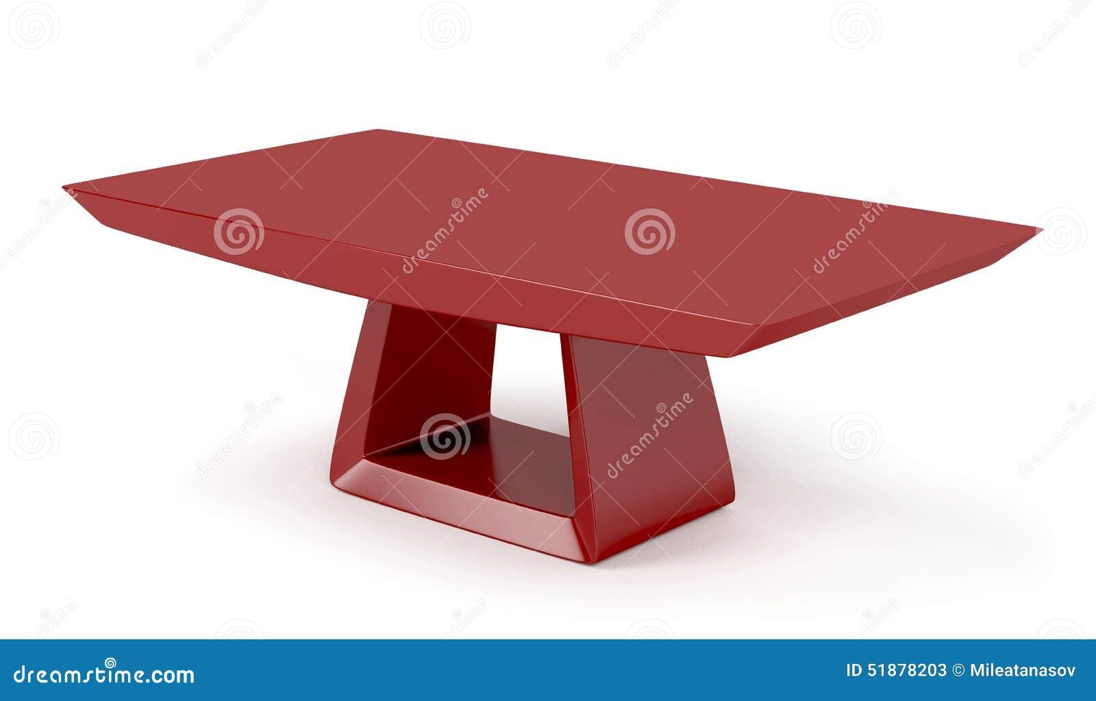 Tavolino Da Soggiorno Rosso.Tavolino Da Salotto Alla Moda Rosso Illustrazione Di Stock