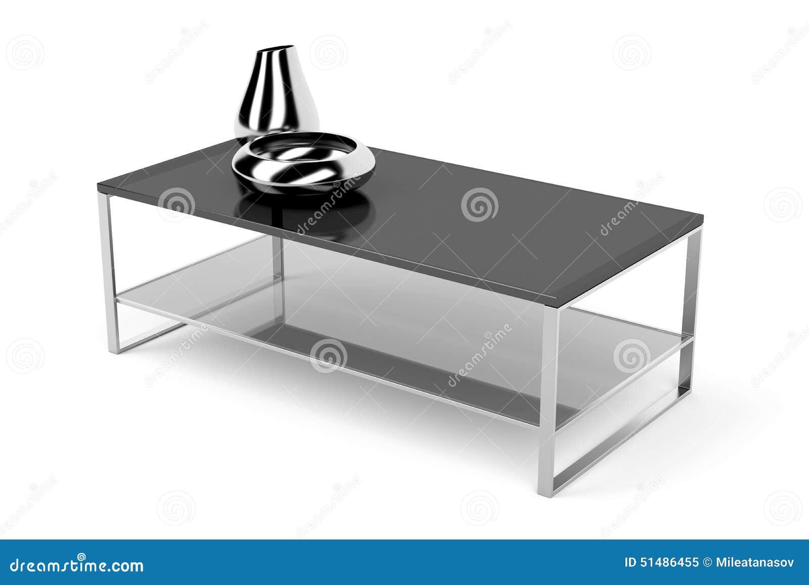 Tavolino da salotto di vetro nero illustrazione di stock for Tavolini vetro
