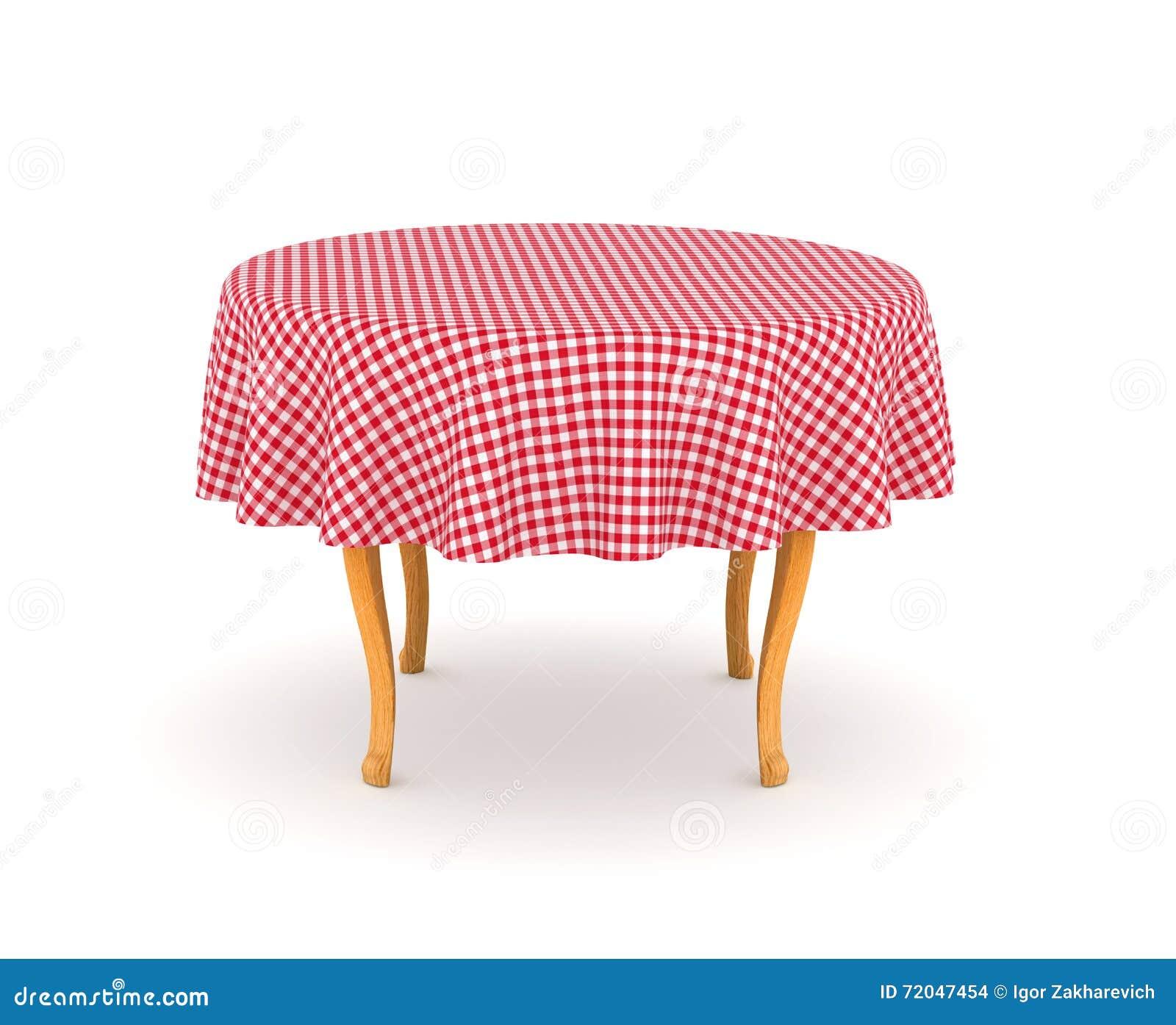 Tavolo da pranzo con la tovaglia illustrazione di stock - Tovaglia tavolo quadrato ...