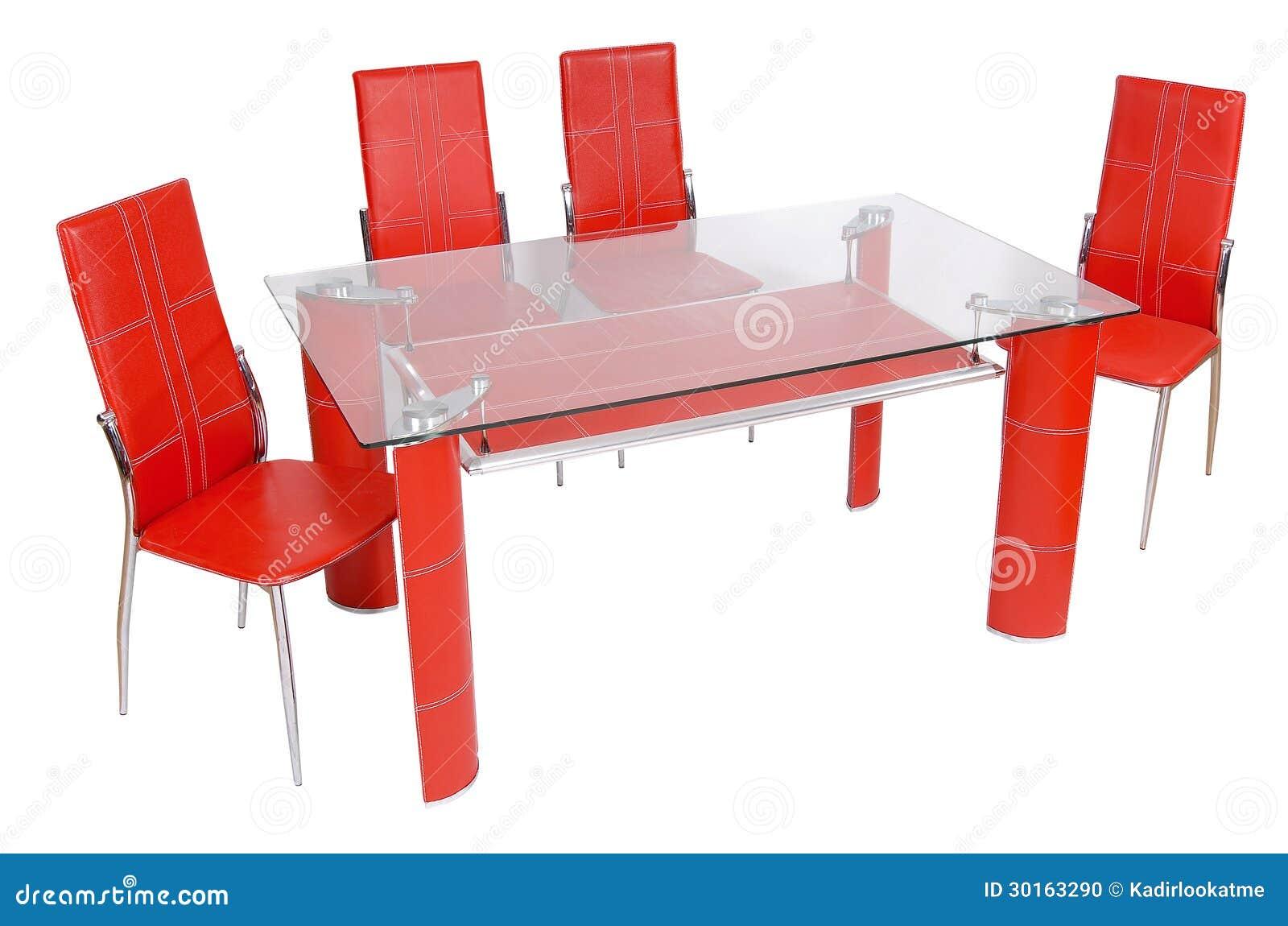 Tavolo da pranzo e sedie di vetro fotografia stock for Sedie tavolo pranzo