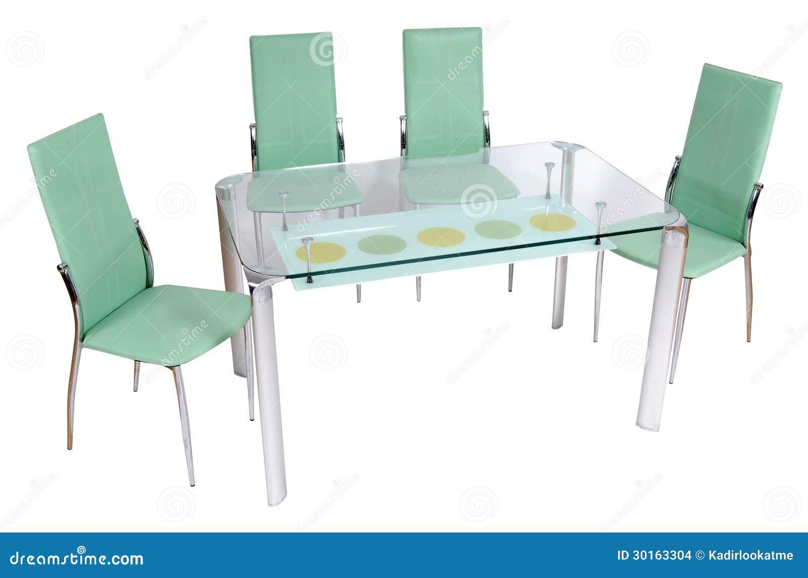Tavolo da pranzo e sedie di vetro immagini stock for Sedie da pranzo economiche