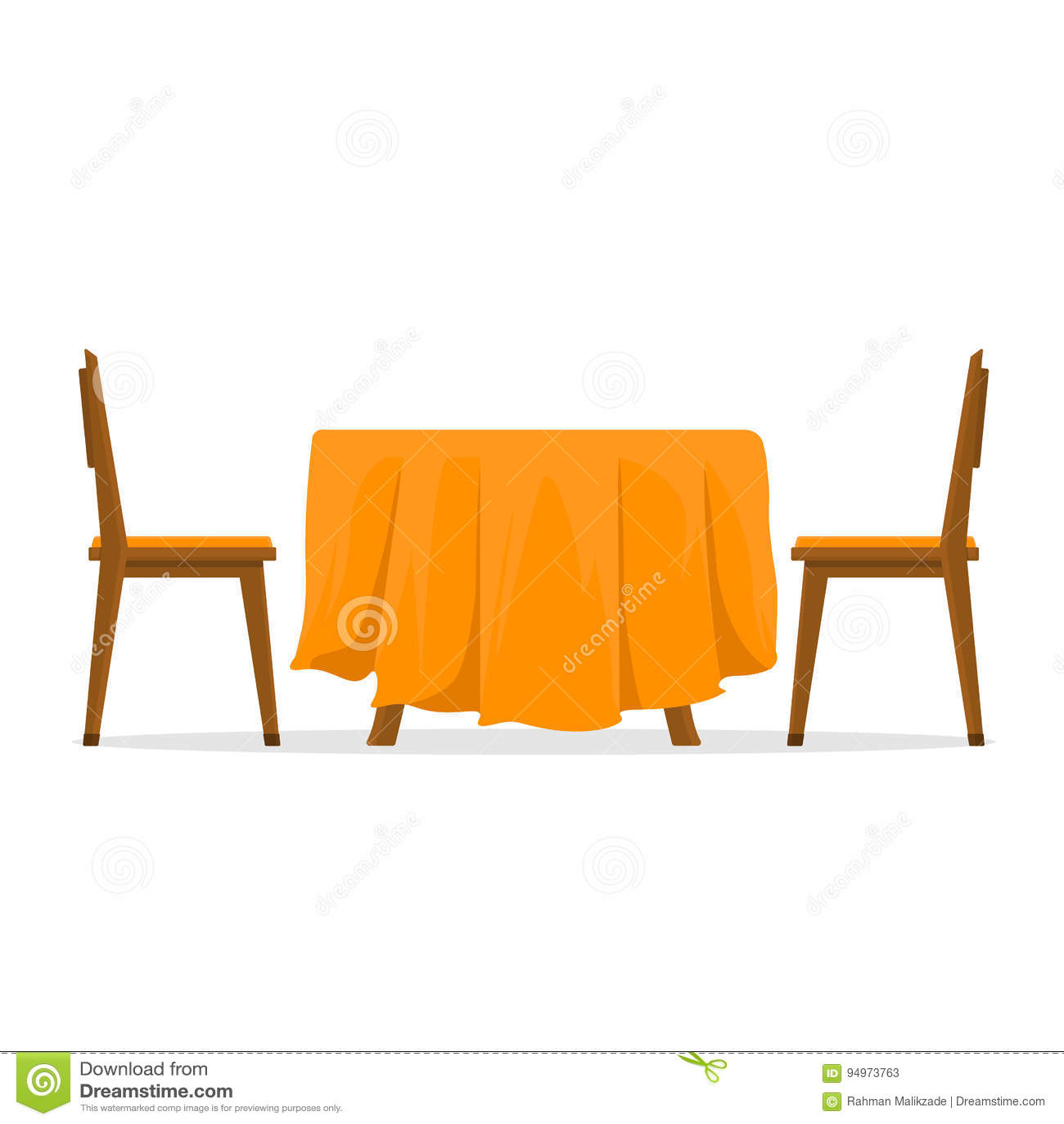 Tavolo da pranzo e sedie per due genti vector l for Sedie per tavolo da pranzo