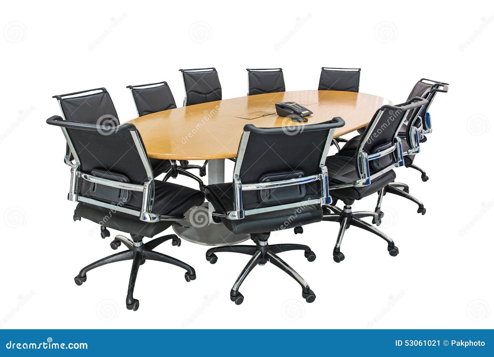 Tavolo di riunione e capelli neri nella sala riunioni immagine