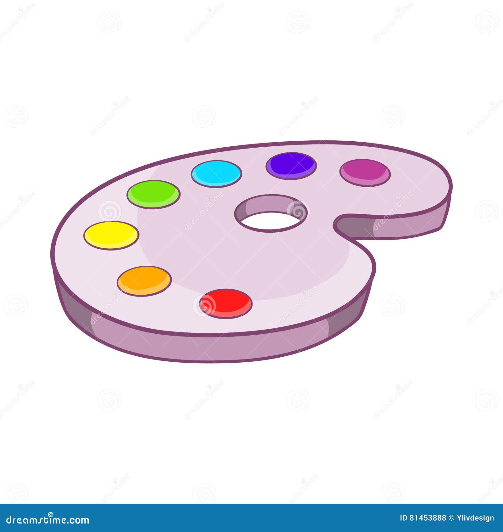 Disegno Tavolozza Dei Colori.Tavolozza Dei Colori Icona Stile Del Fumetto Illustrazione