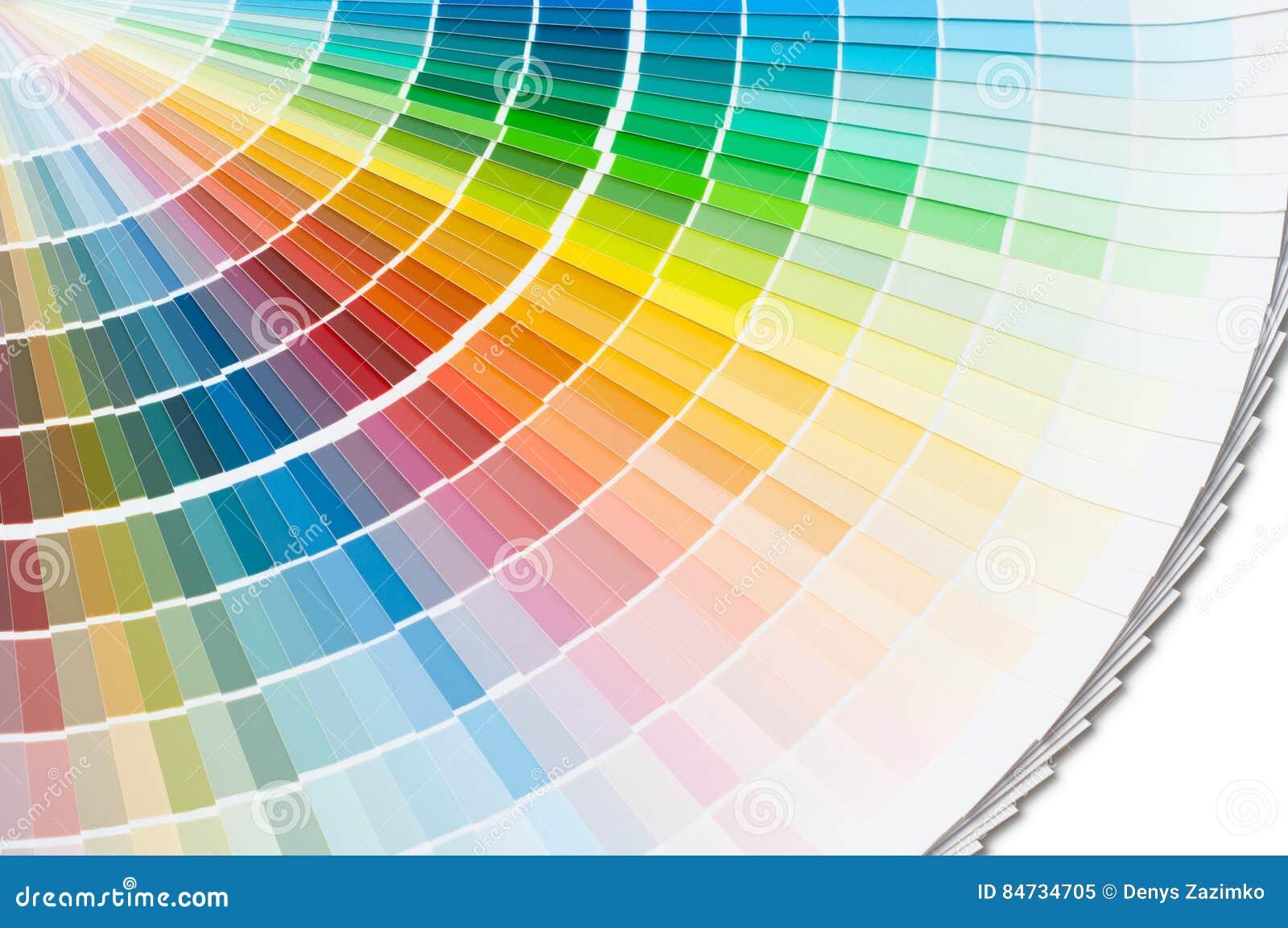 Tavolozza di colore, guida di colore, campioni della pittura, catalogo di colore
