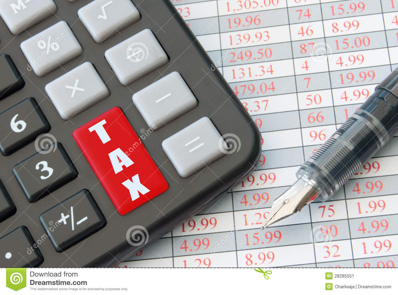 Tax stock image  Image of account, accounting, puzzle - 28285551