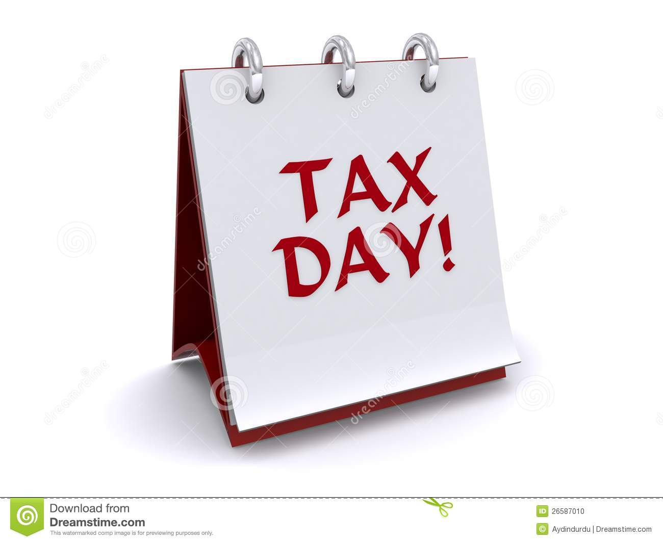 Tax Day Flip Book Stock Photo - Image: 26587010