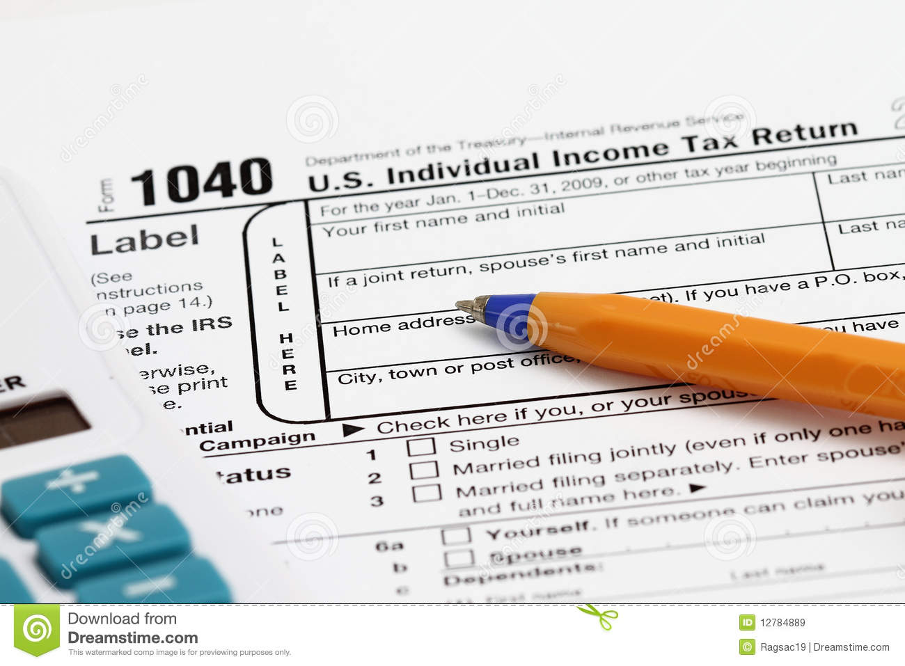 Tax form editorial stock image image 12784889 for 1040 tax table calculator