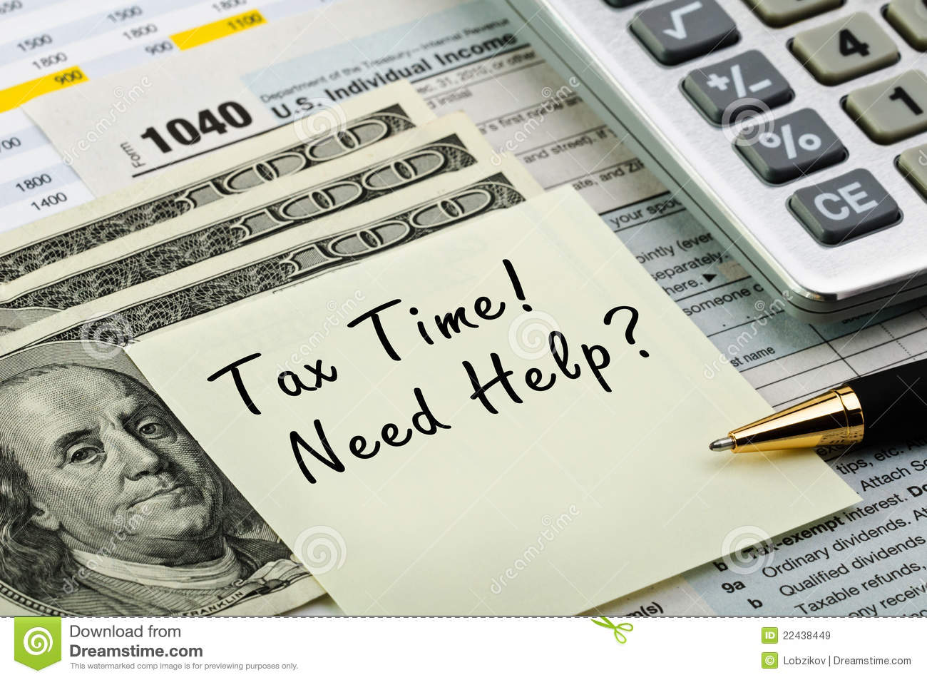 Tax forms with pen calculator and money royalty free for 1040 tax table calculator