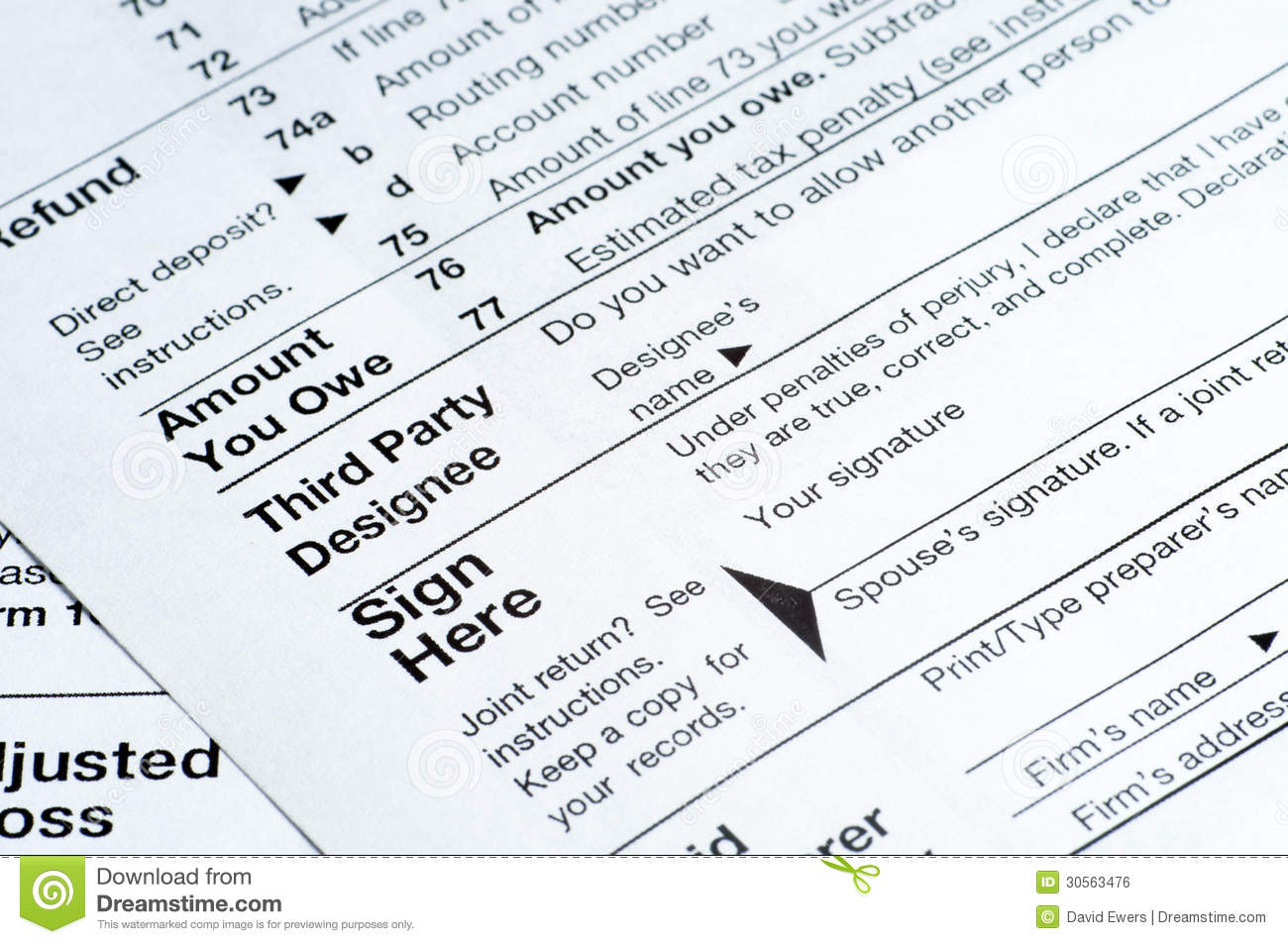 how to read tax return form